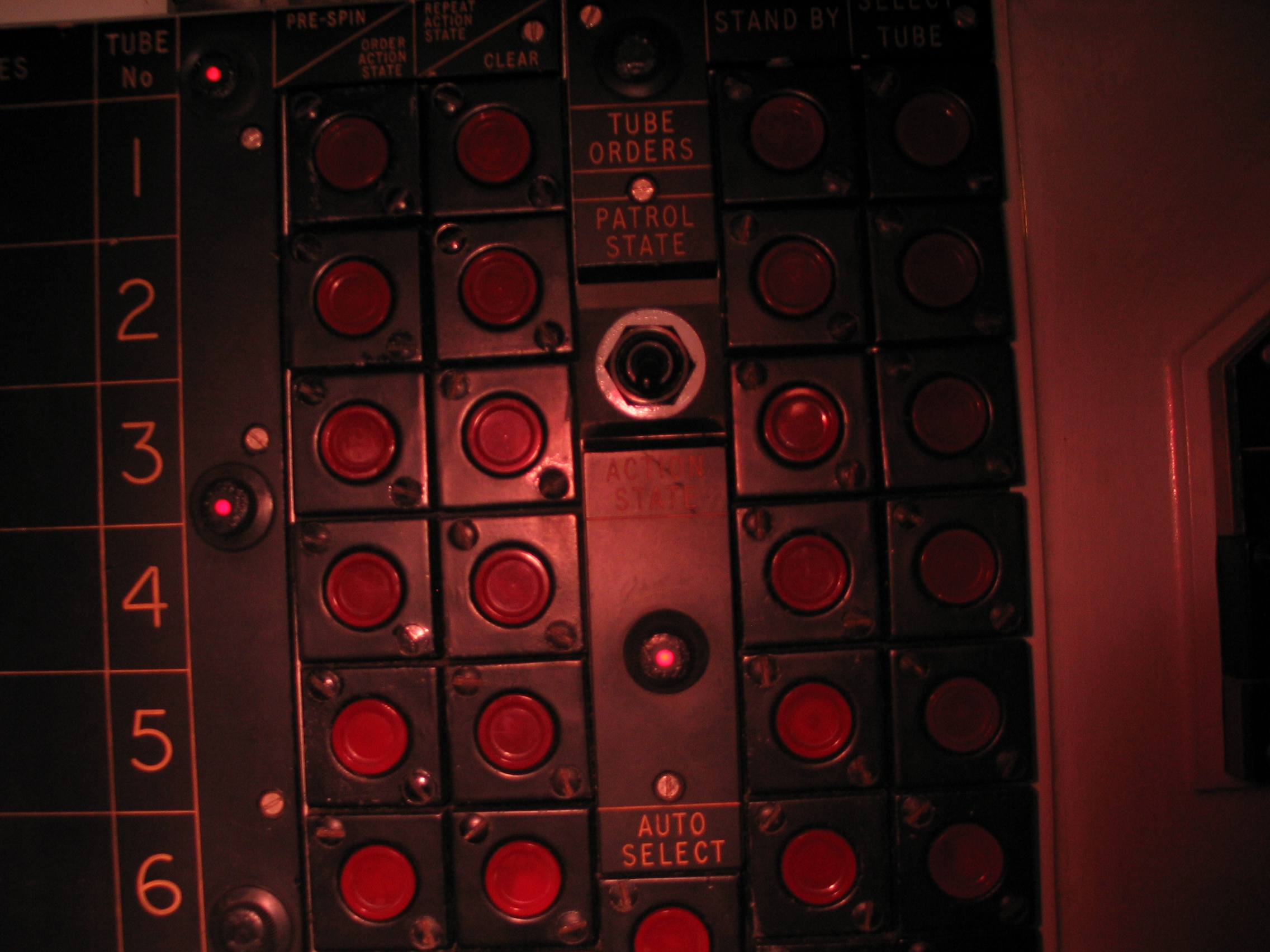 iain tube control panel button buttons red auto select