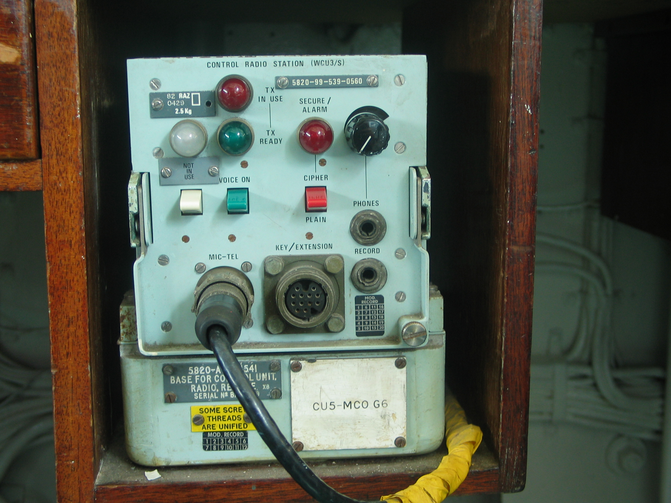 iain controls radio station control wc3u/s buttons switches lamps lights
