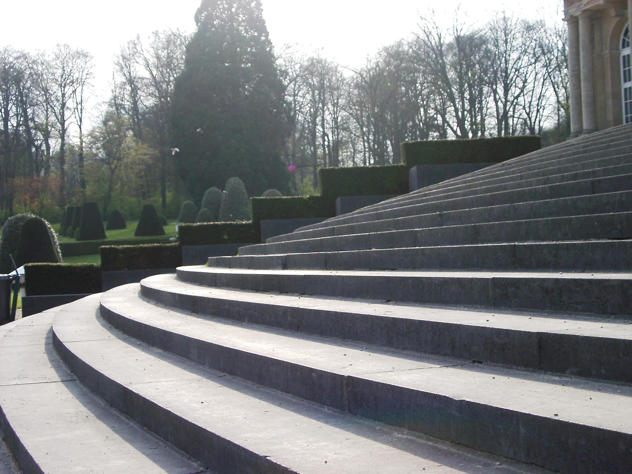 julien steps stone building entrance garden