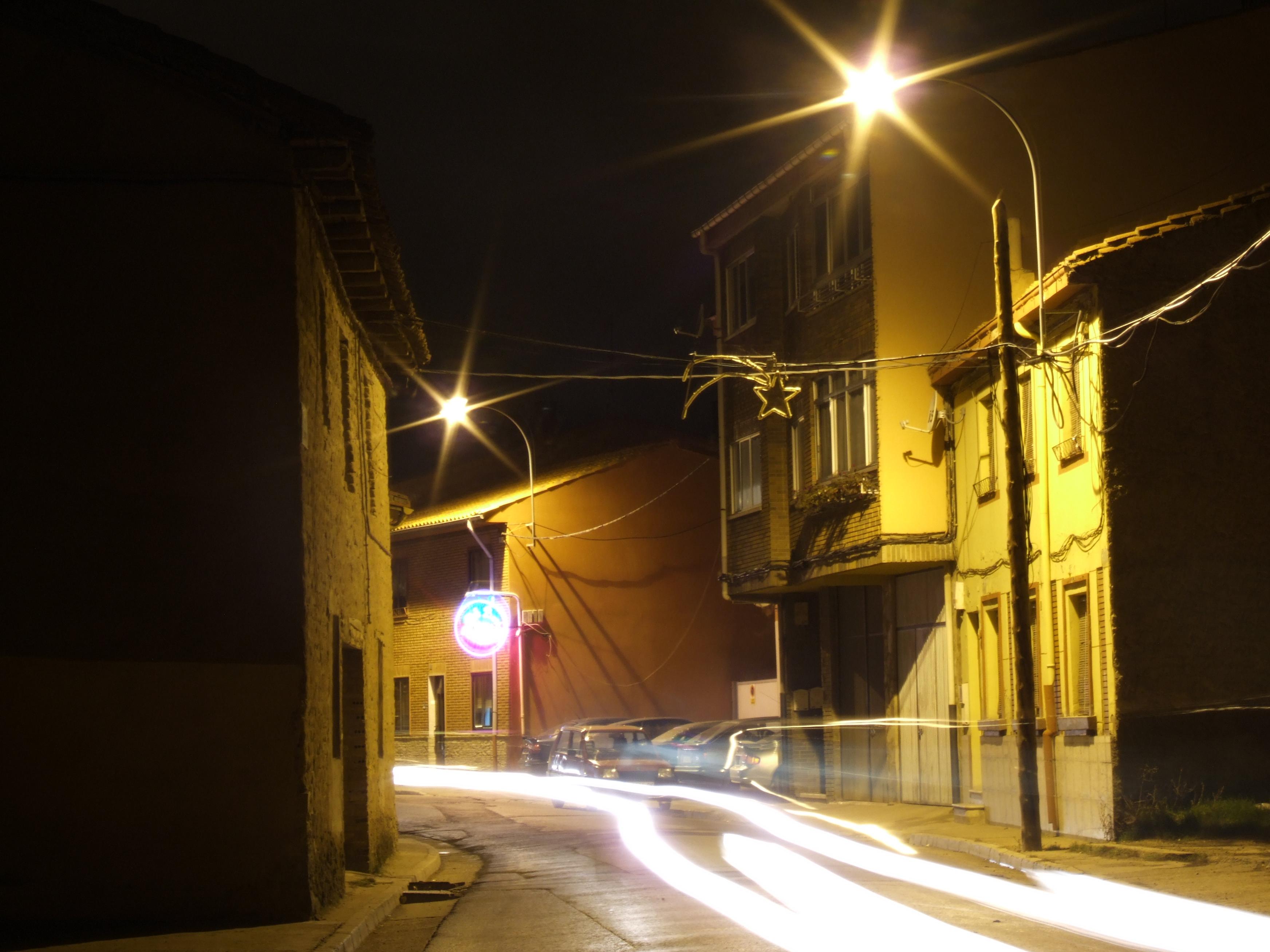 julio street night houses streetlights lights beautiful glow lens flares