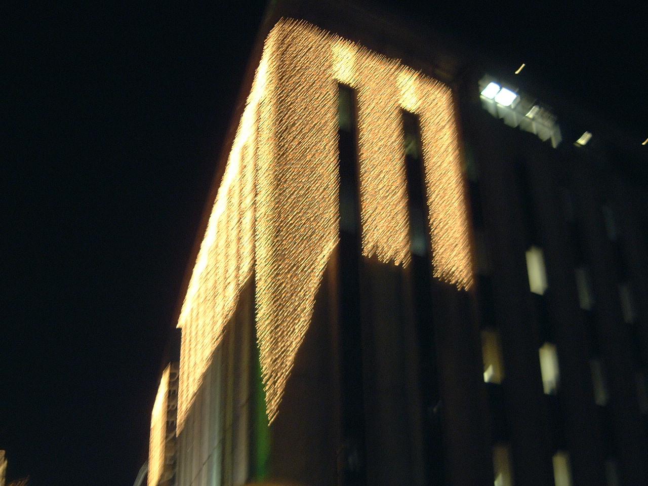 maartent building lights speeding past blur decorations christmas