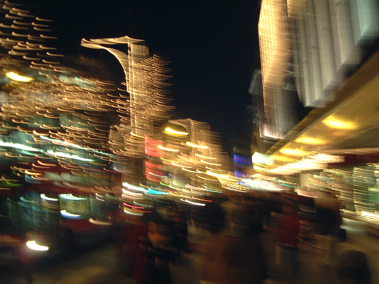 maartent night evening dark shopping center city lights christmas