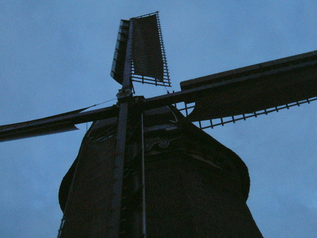 maartent windmill on a winters day in Holland