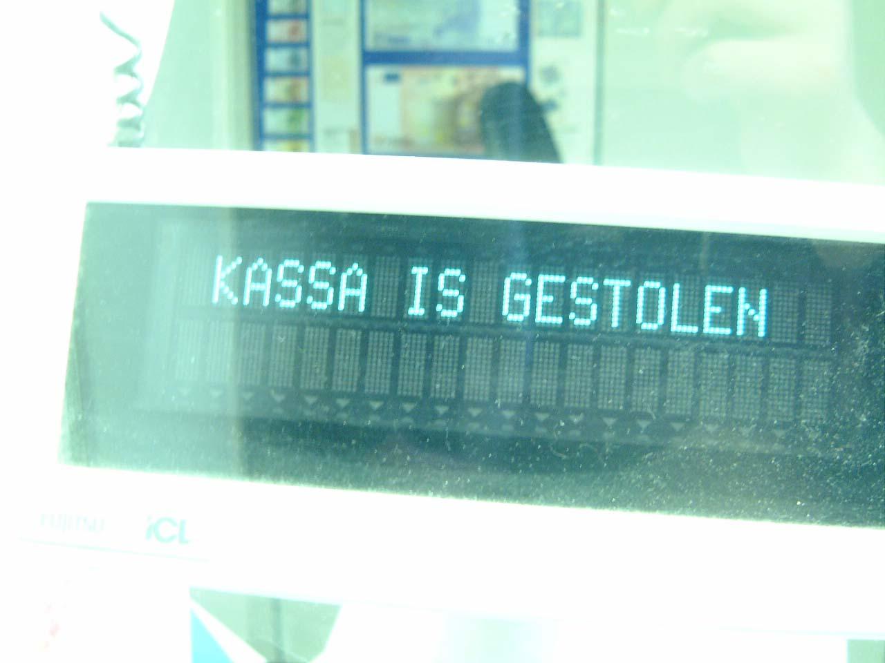 scripts typography maartent cashregister typo cashregister has been stolen kassa is gestolen sanserif matrix