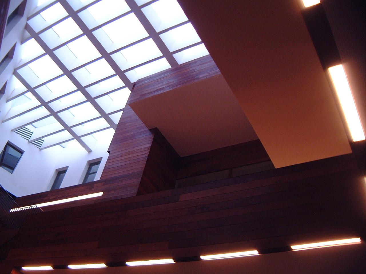 maartent roof glass ceiling building interior modern