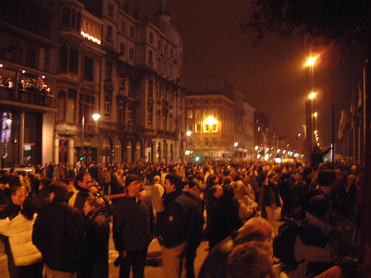 nature characters humanoids maartent crowd night mob demonstratin people street cityscape protest
