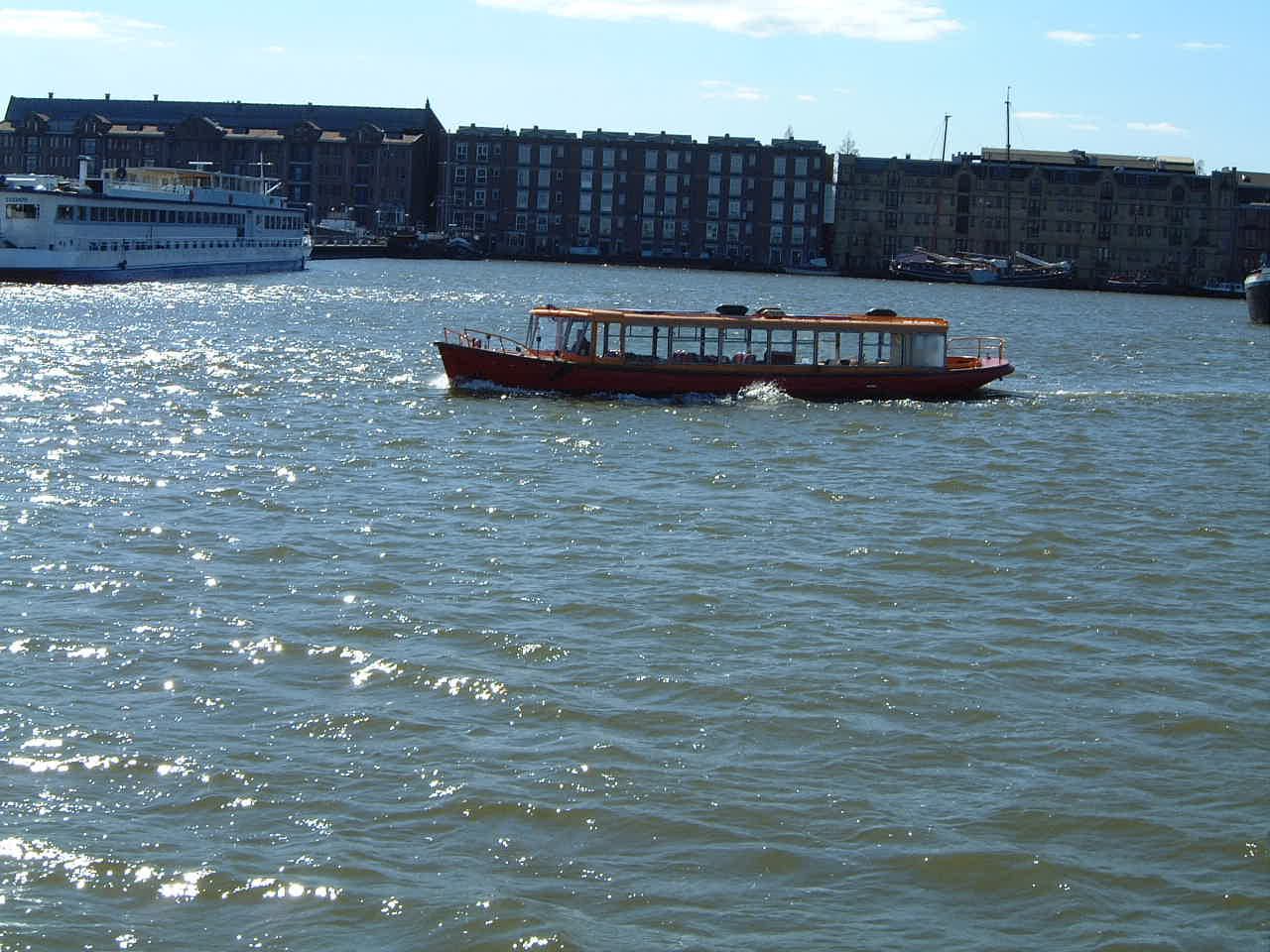 maartent harbor ship water river wooden tourists ferrying