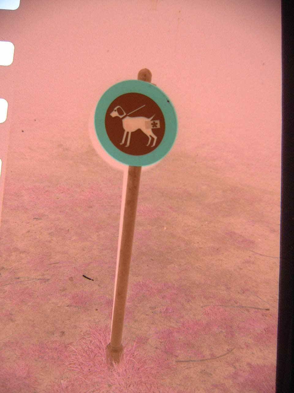 maartent dog poop sign forbidden round red green