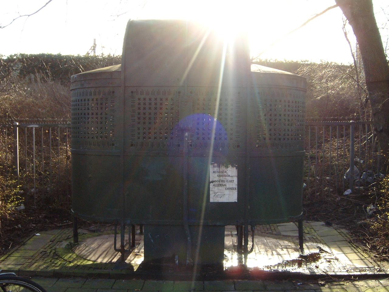 maartent sun shining over a public urinal