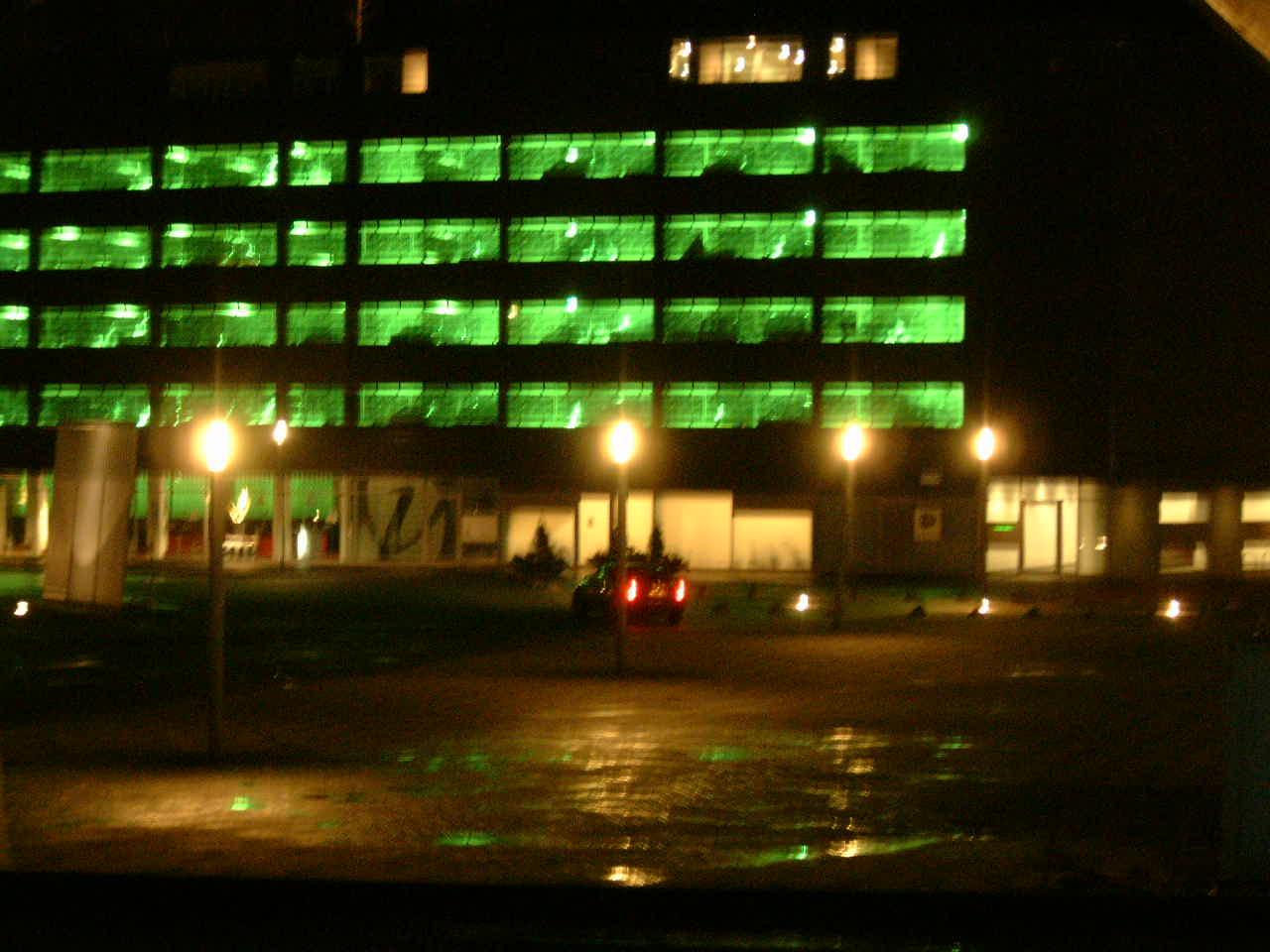 maartent dark evening lights dusk nighttime city parking lot