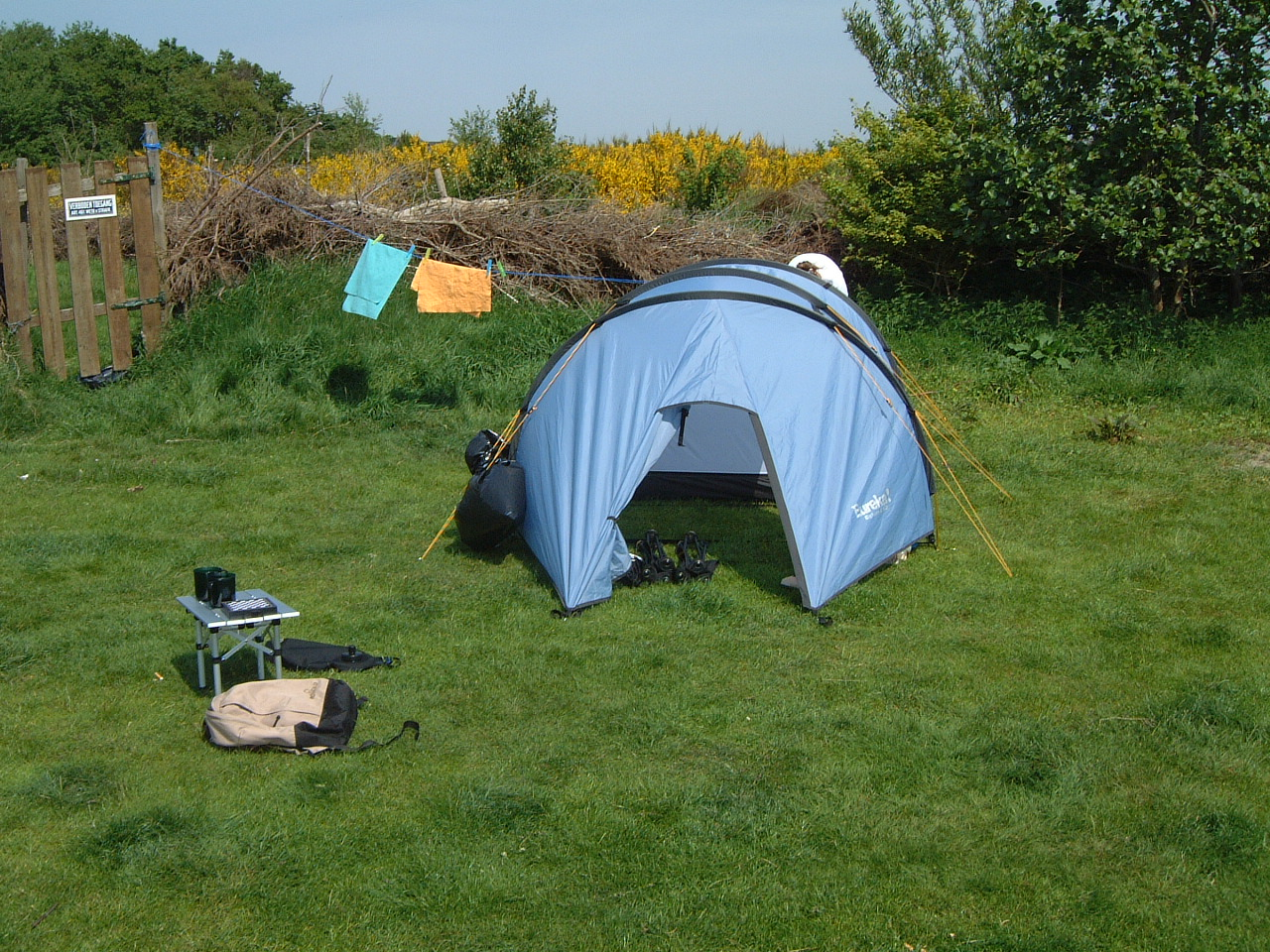 maartent camping tent blue holiday