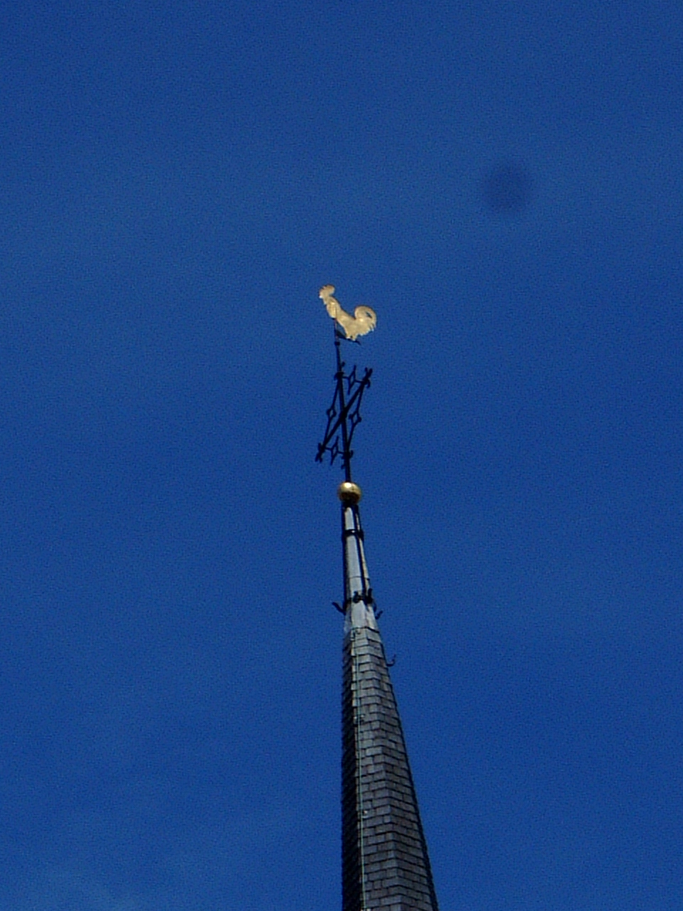 maartent church roof hen golden pointing to heaven compass