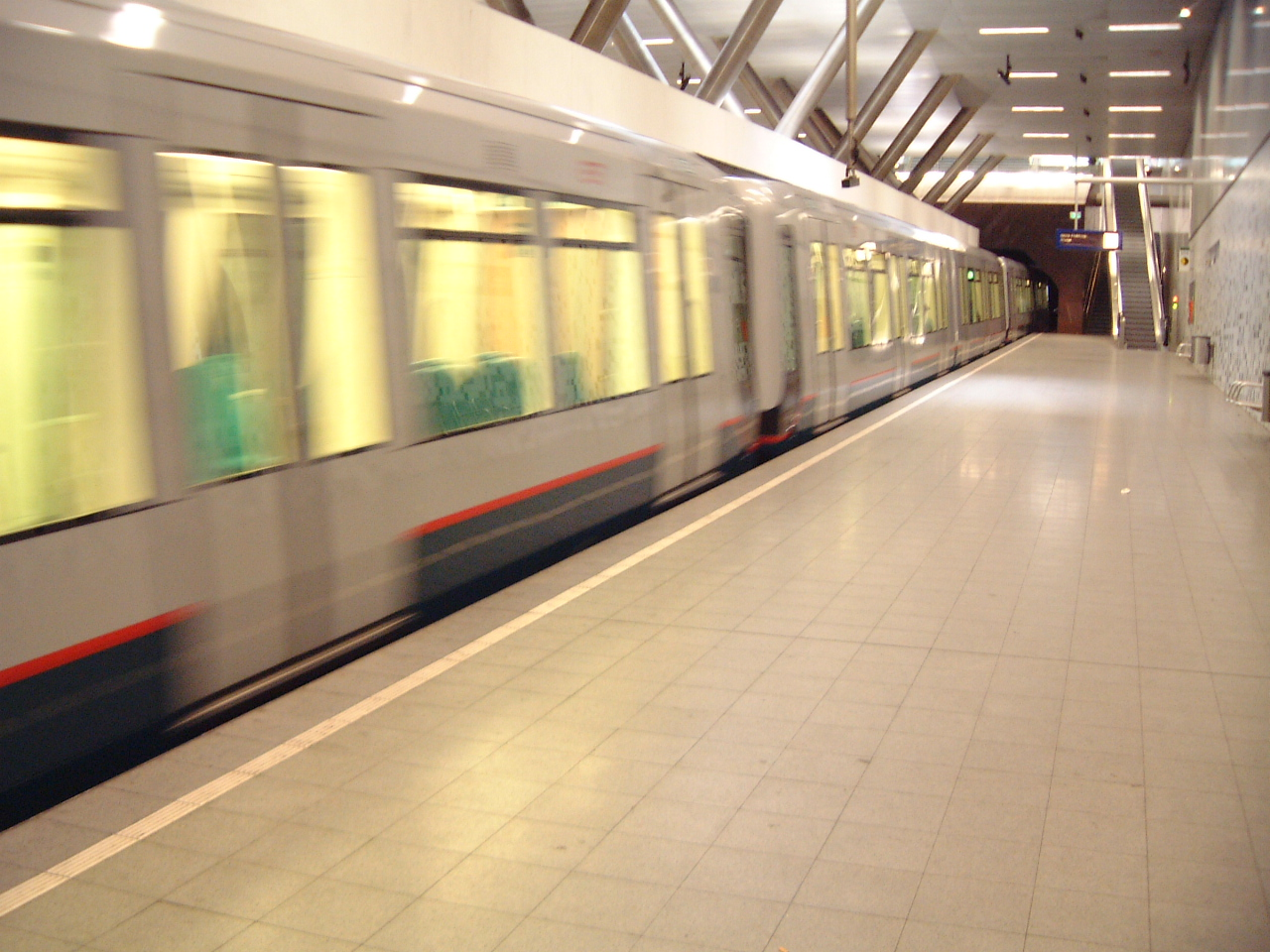 train metro underground tube subway clean futuristic speed zooming by maartent