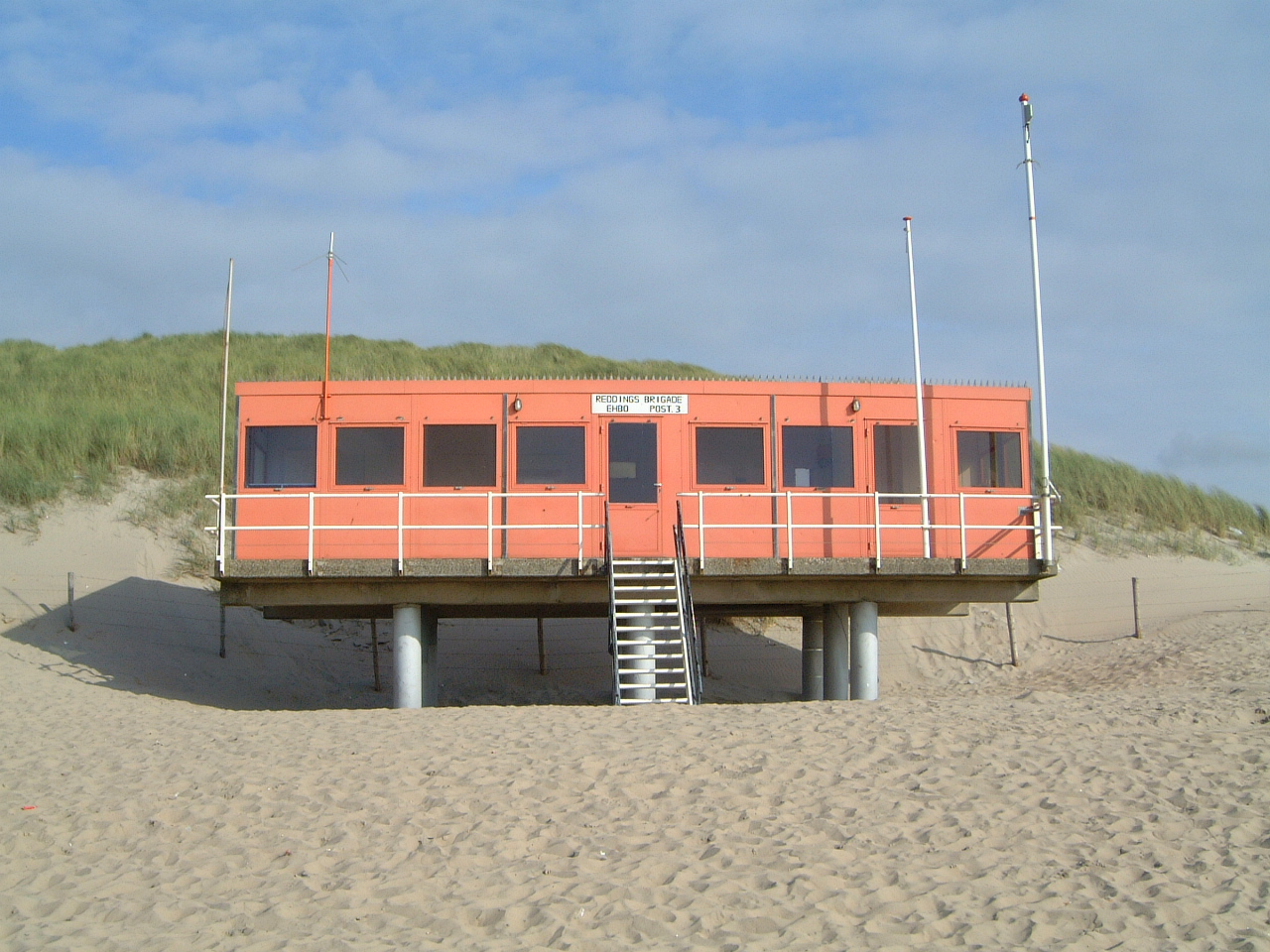 maartent beach house pavilion lifeguard steps