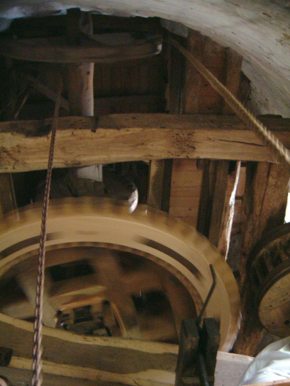 mechanics maartent gear gears mill windmill running turning speed wooden architecture interiors