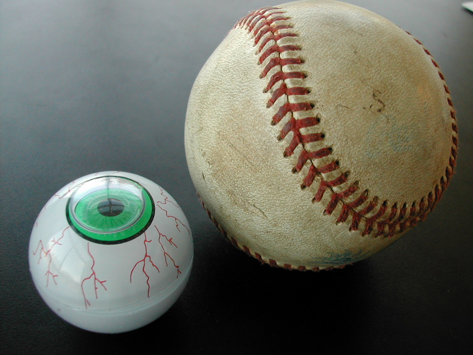 eye and baseball table spheres round mcmath