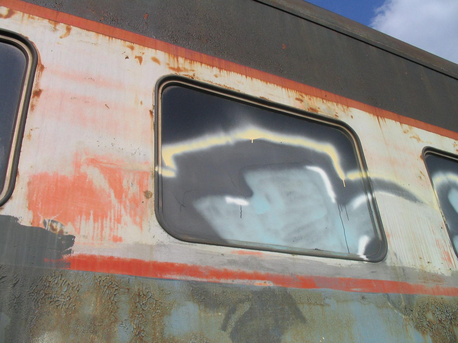 nicolaswill train wreck old binned graffiti windows spray abandoned hi-res