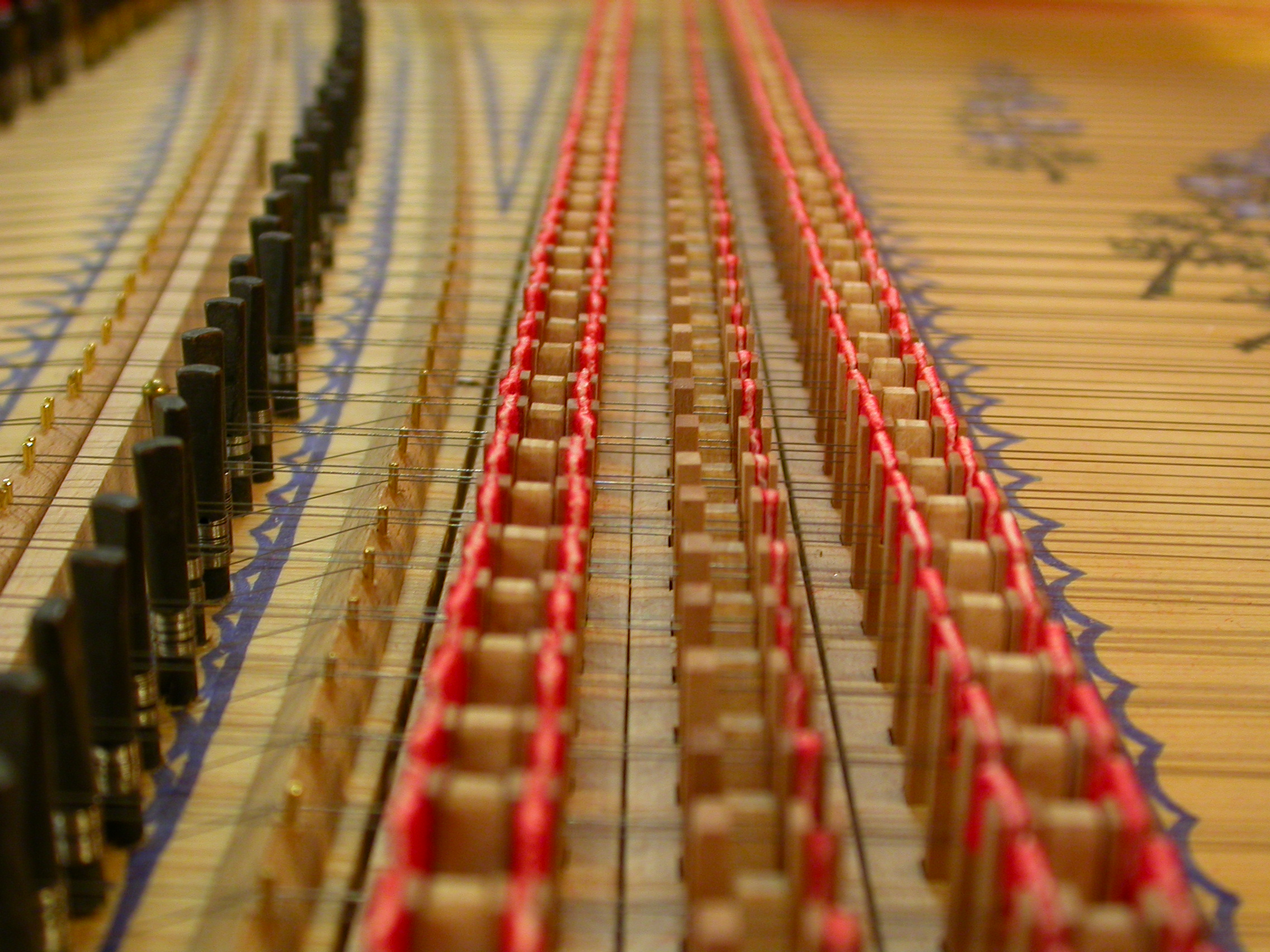 paul inside of piano strings instrument