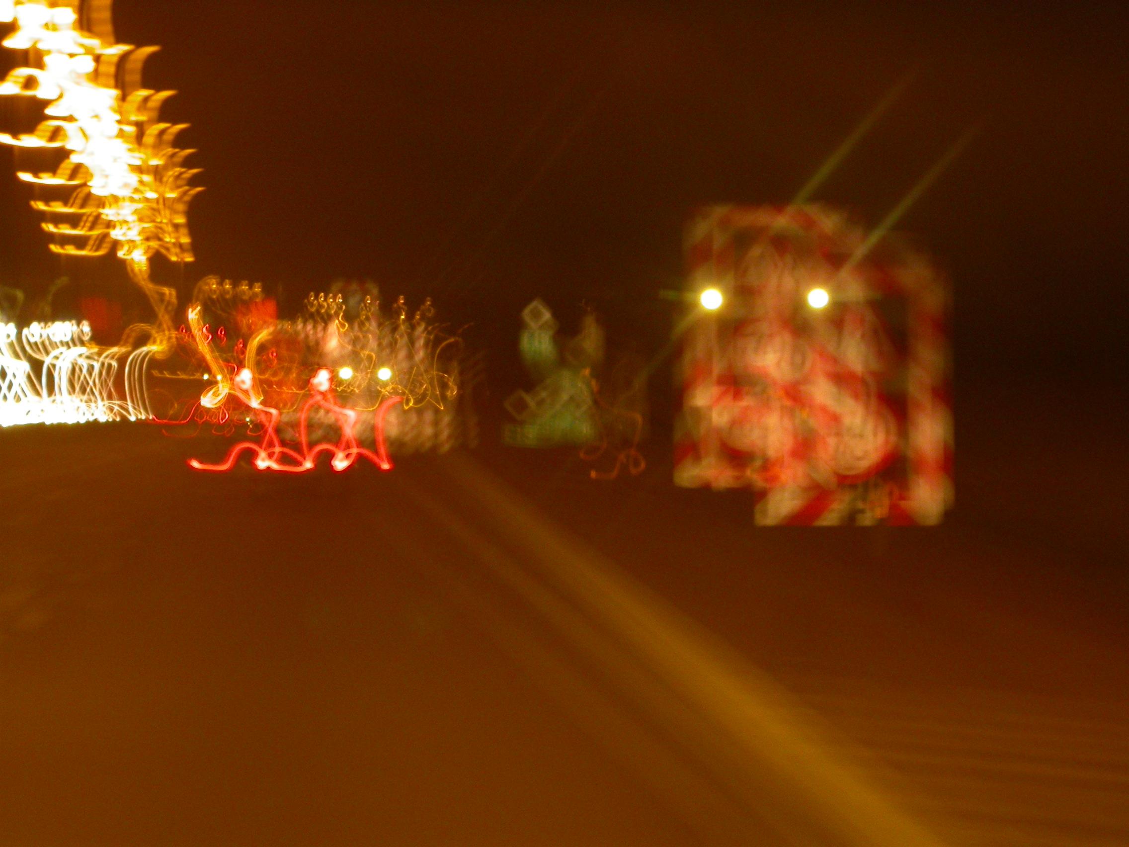 paul road night lights blur blurred signs