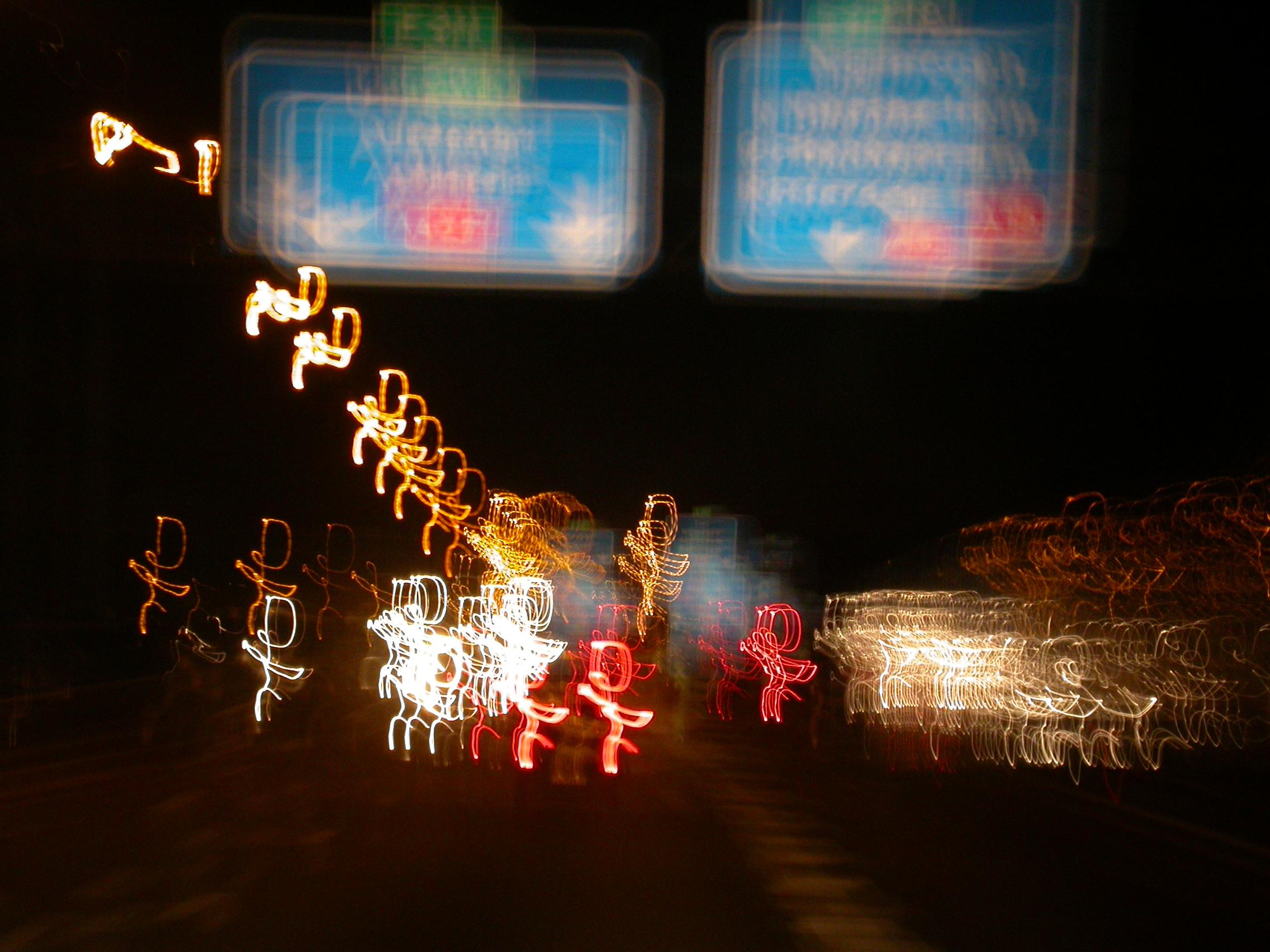paul sign highway road car cars light lights blur