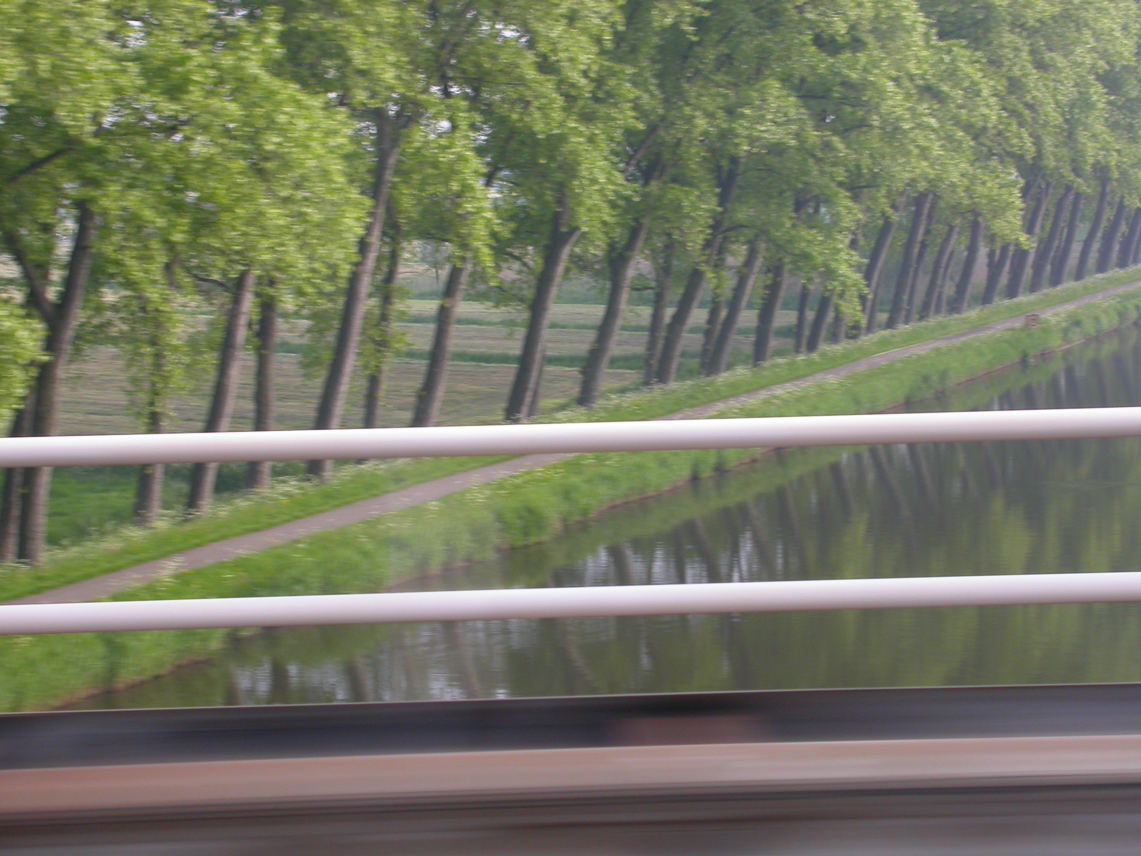 paul speed speeding bridge water river railing