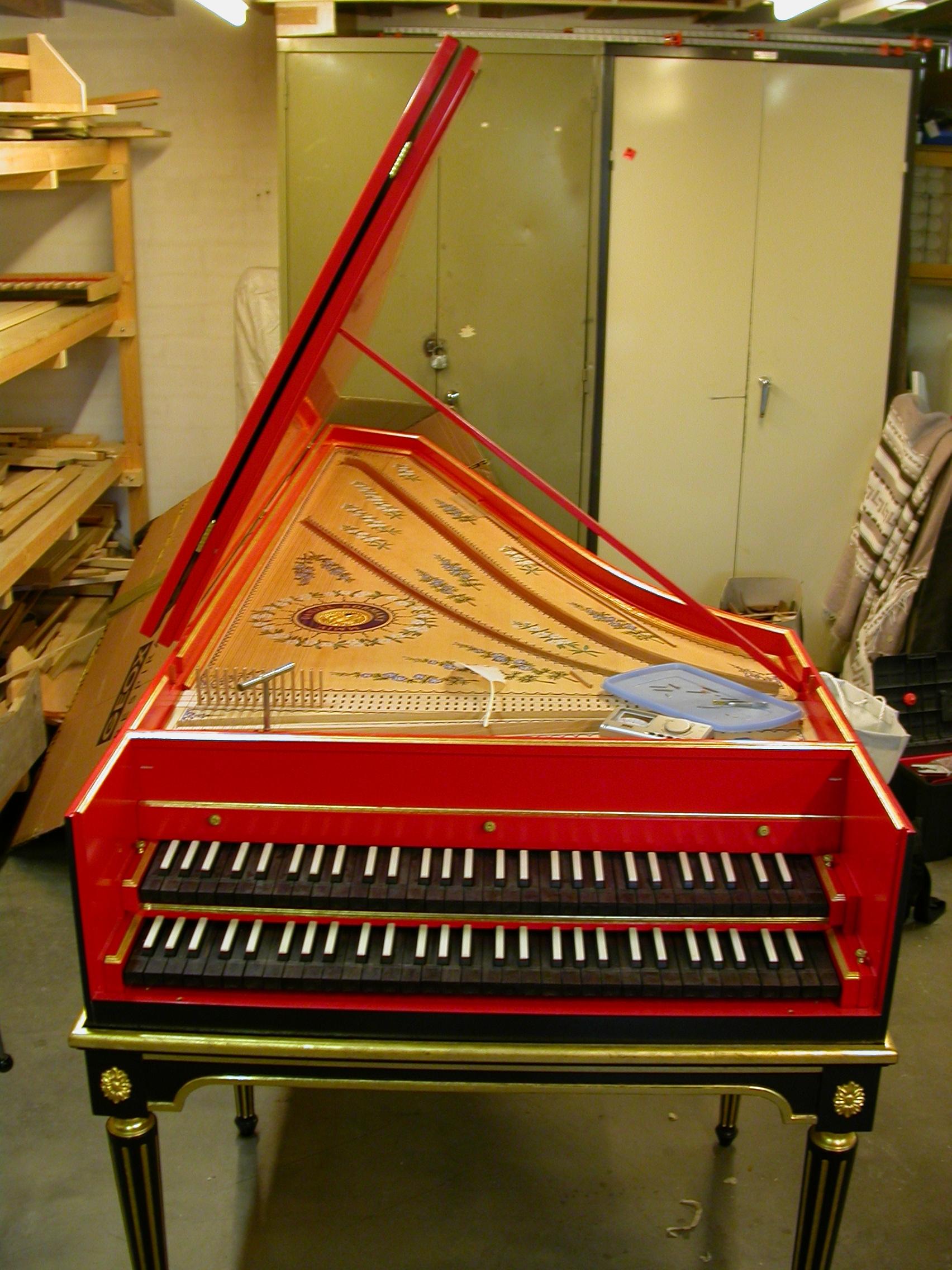 Paul piano red workshop instrument builders building