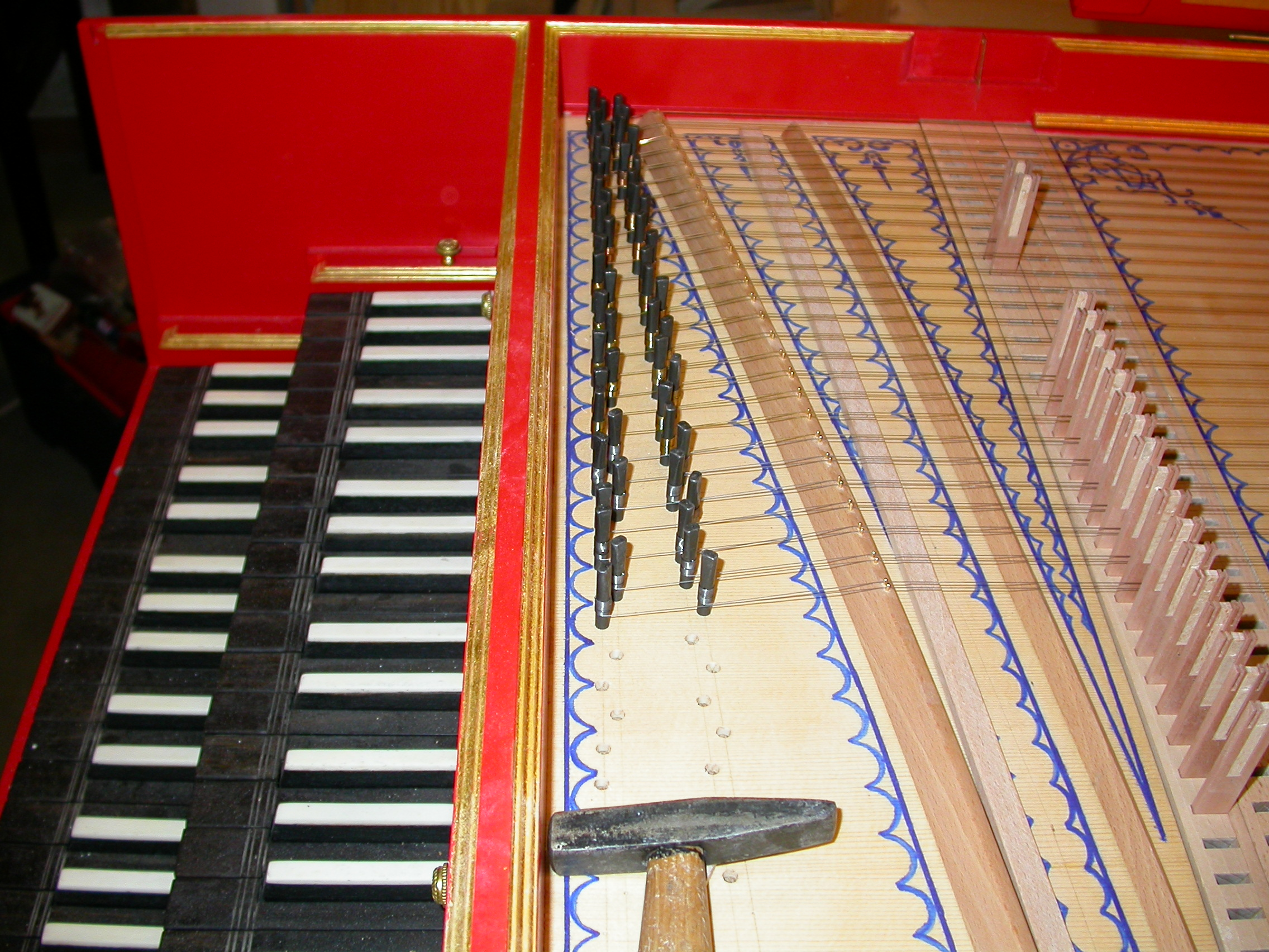 paul piano instrument music keys hammer in the making under cinstruction craft school snares pegs