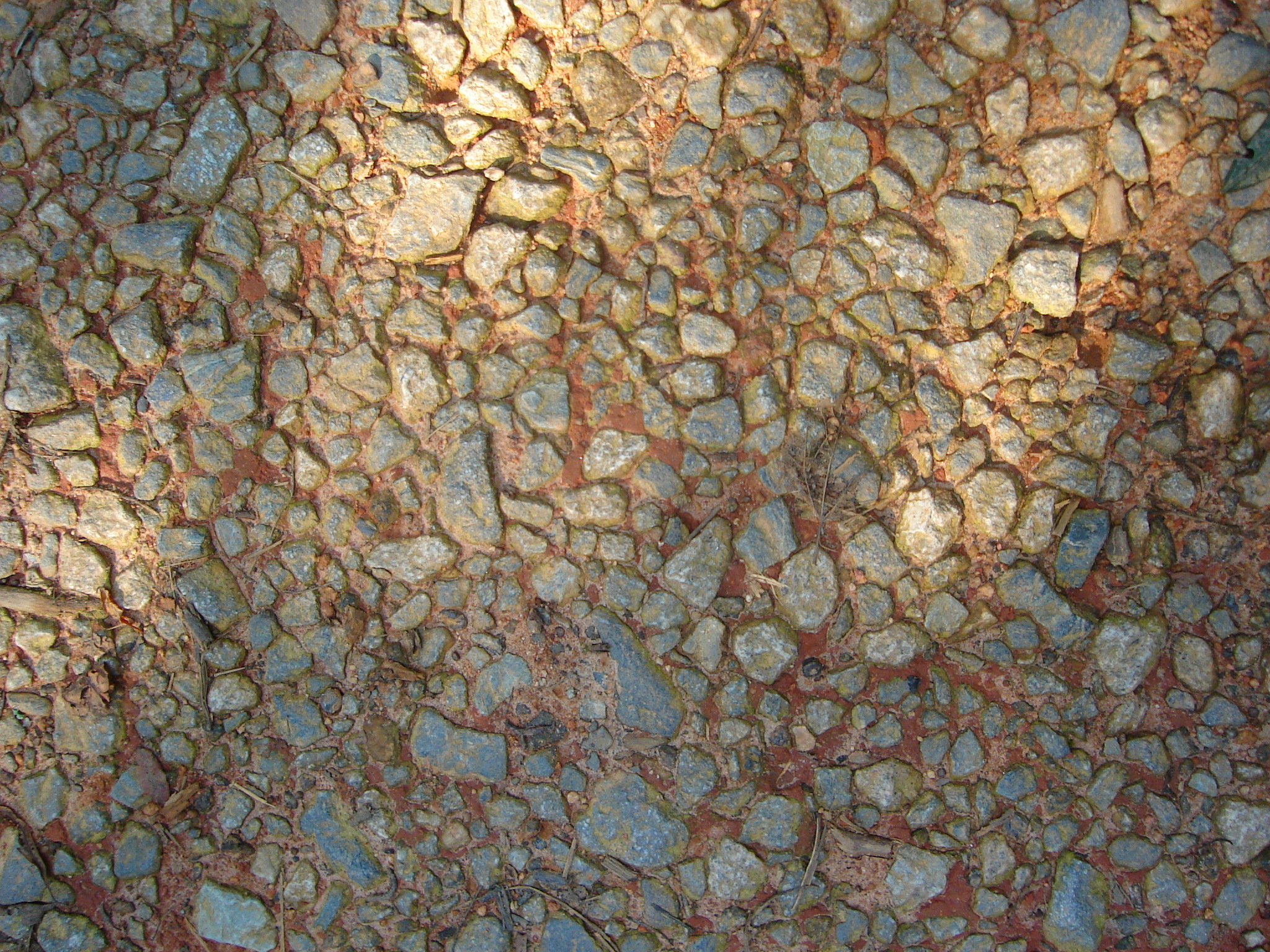 rocks path red ground dirt earth poows