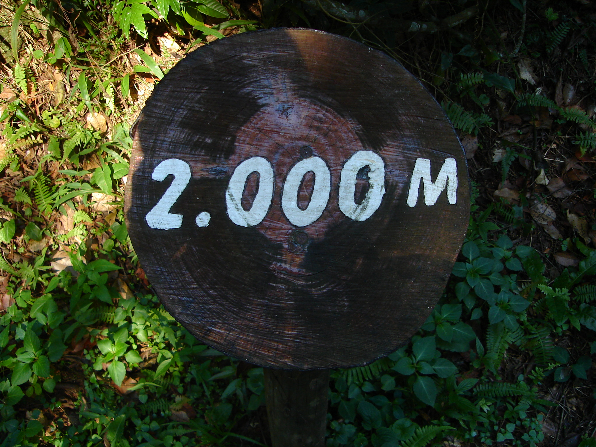 poows 2000 2.000 two thousand meter sign height mountain to the top