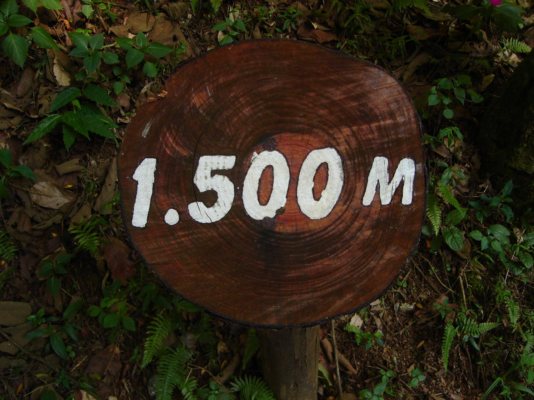poows 1500 meter fifteen hundred meter sign post height