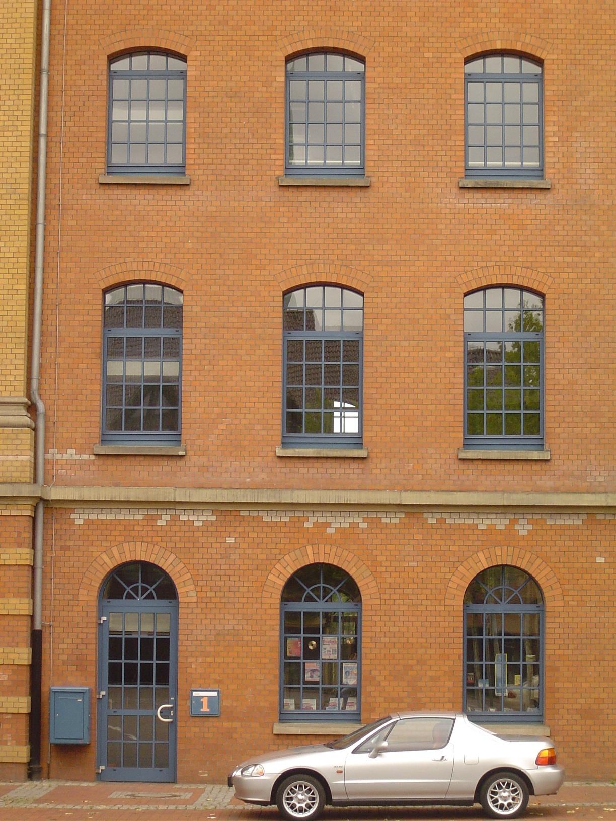 rigoletto facade architecture building windows car side wall