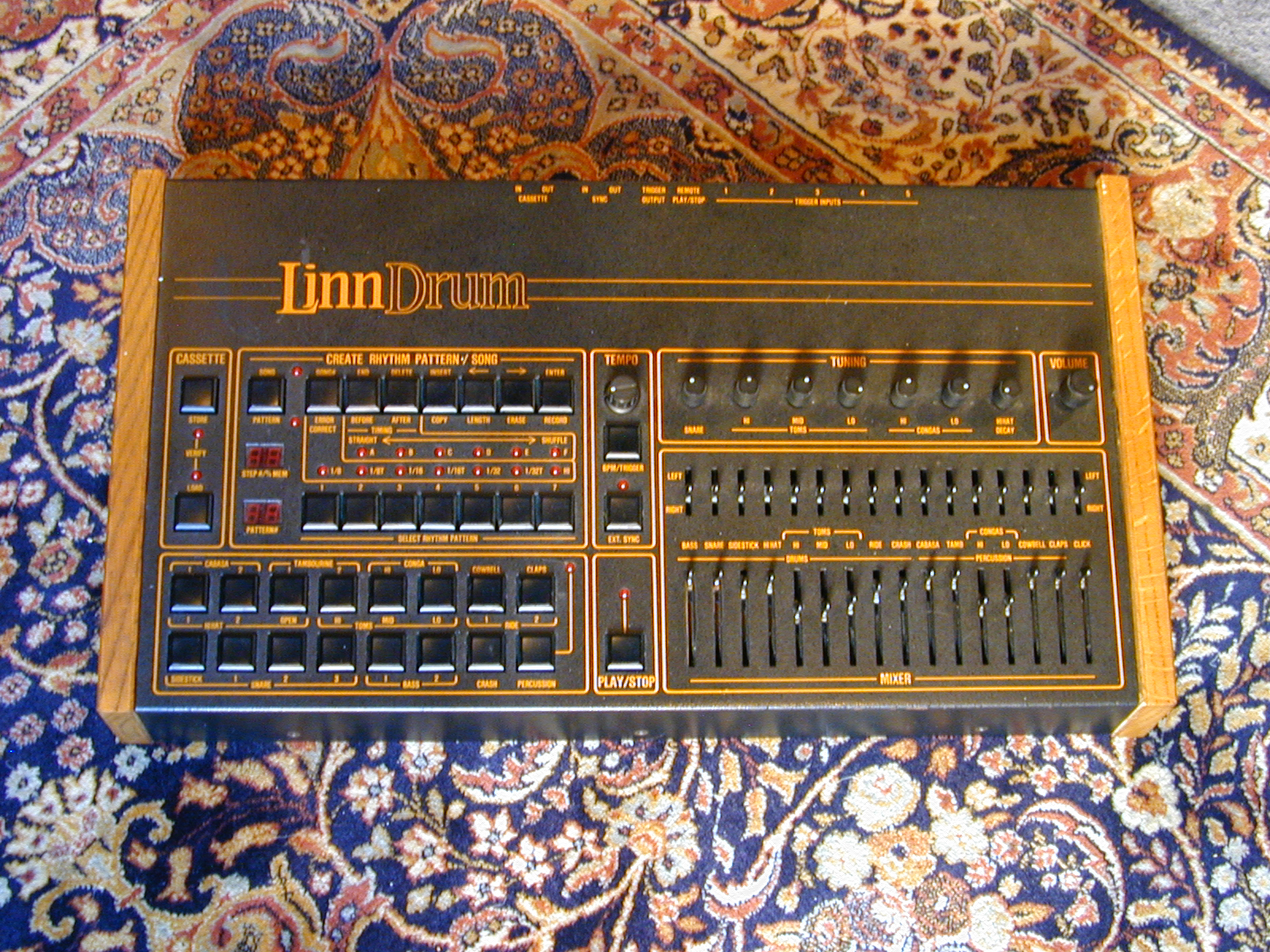 linn drum machine computer buttons console thomas switches