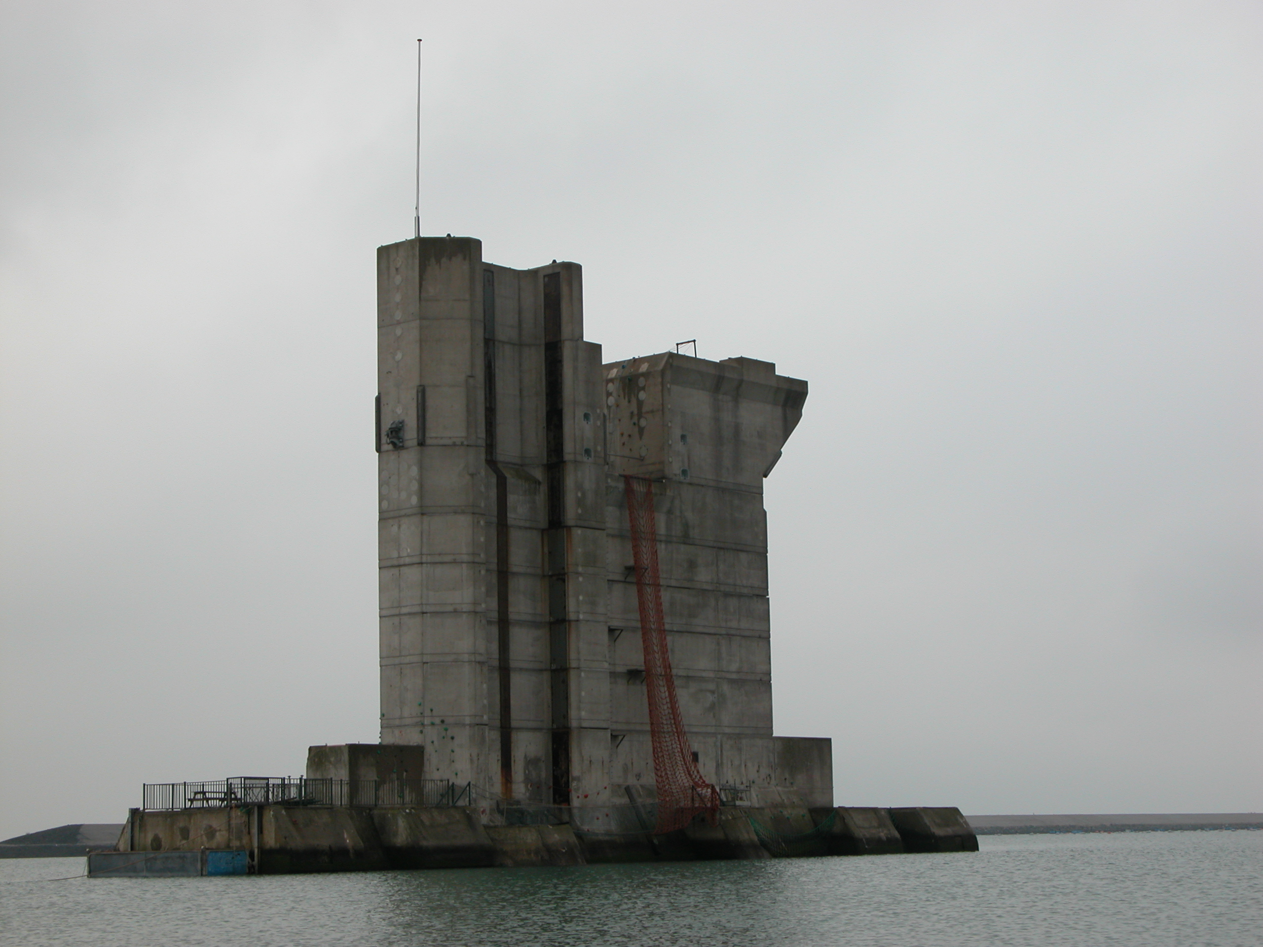 concrete pylon dam tower