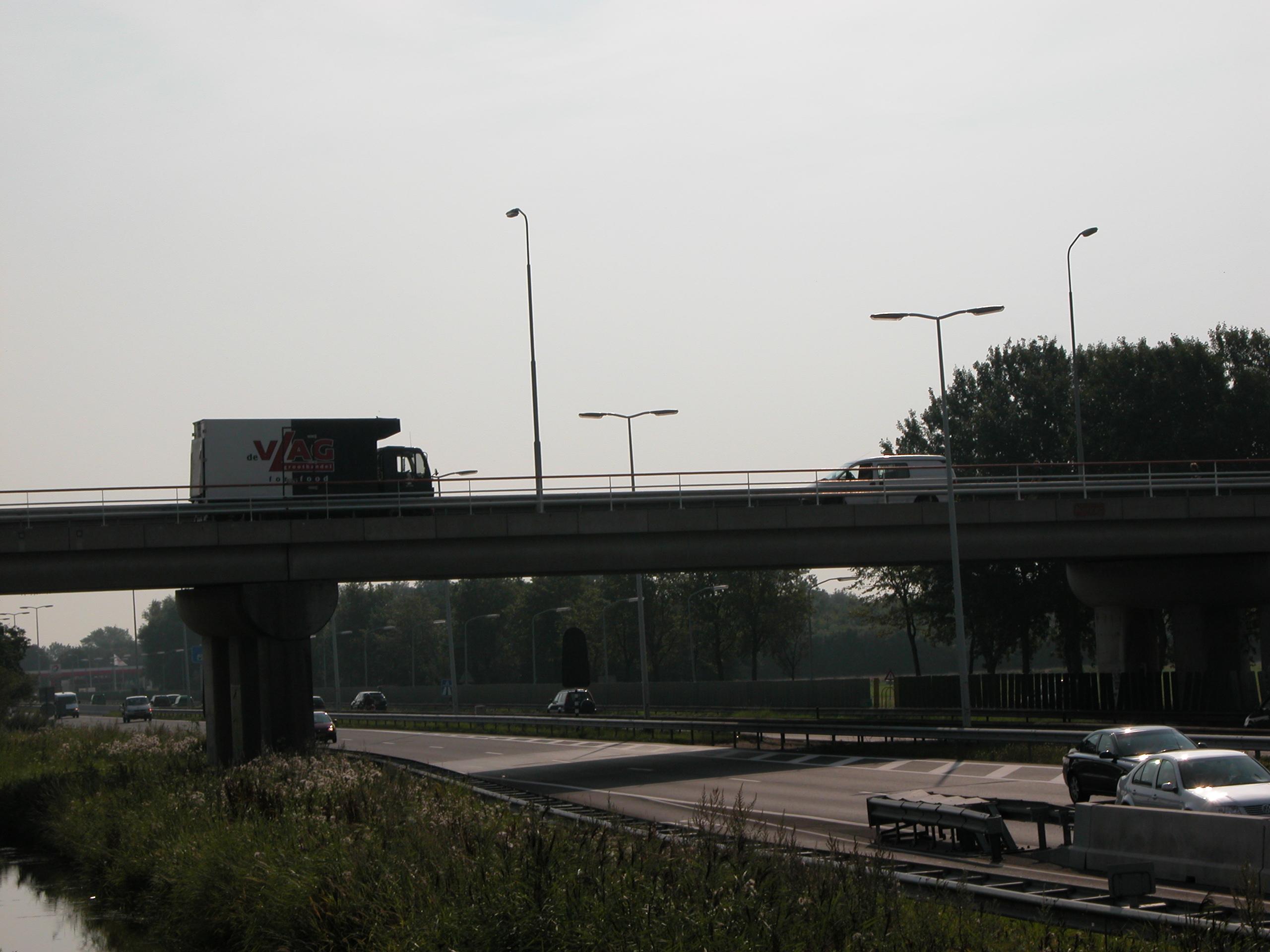 architecture exteriors bridge vehicles land car cars traffic road highway