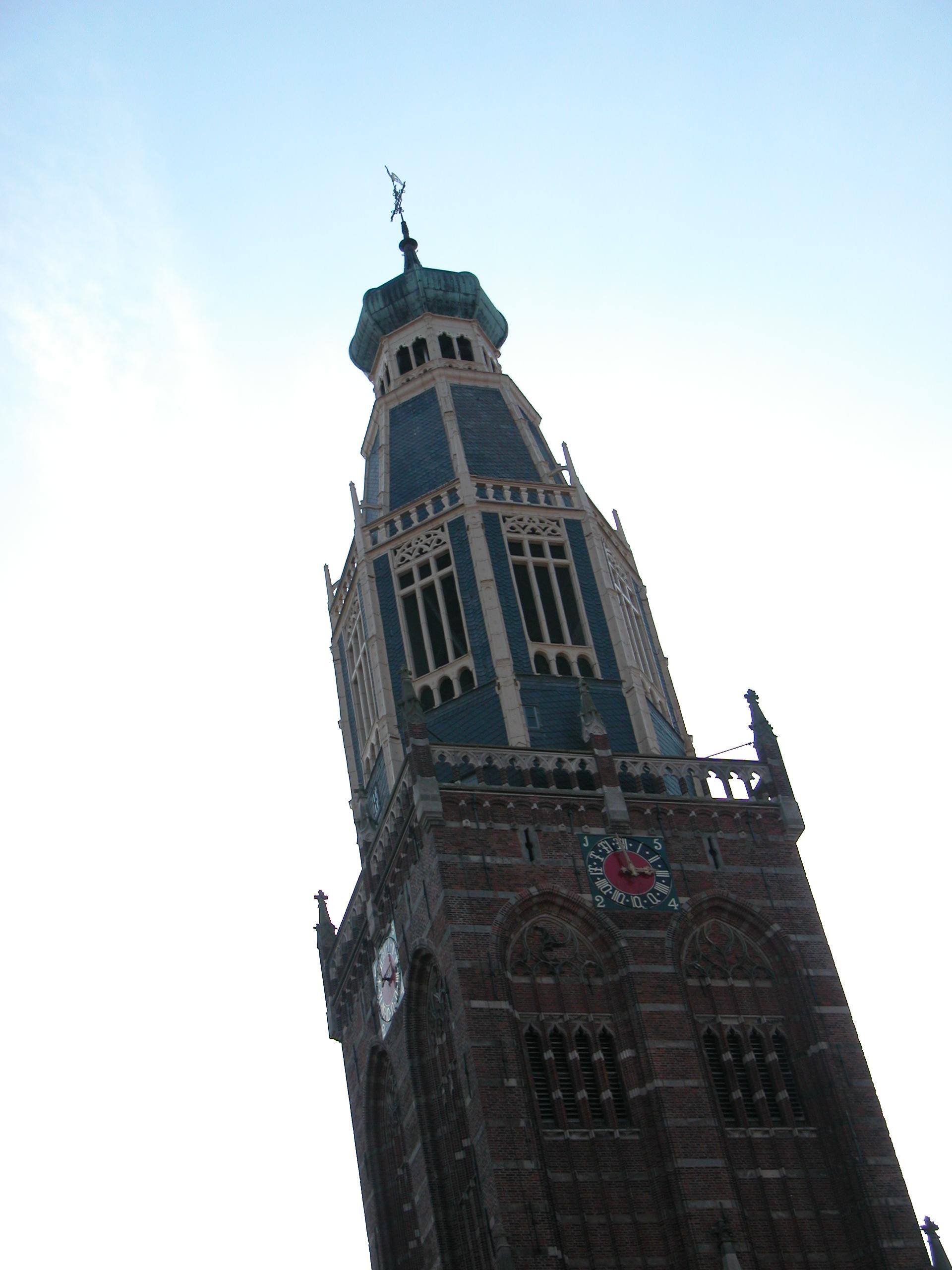 tower steeple black outline church high rising clock spire