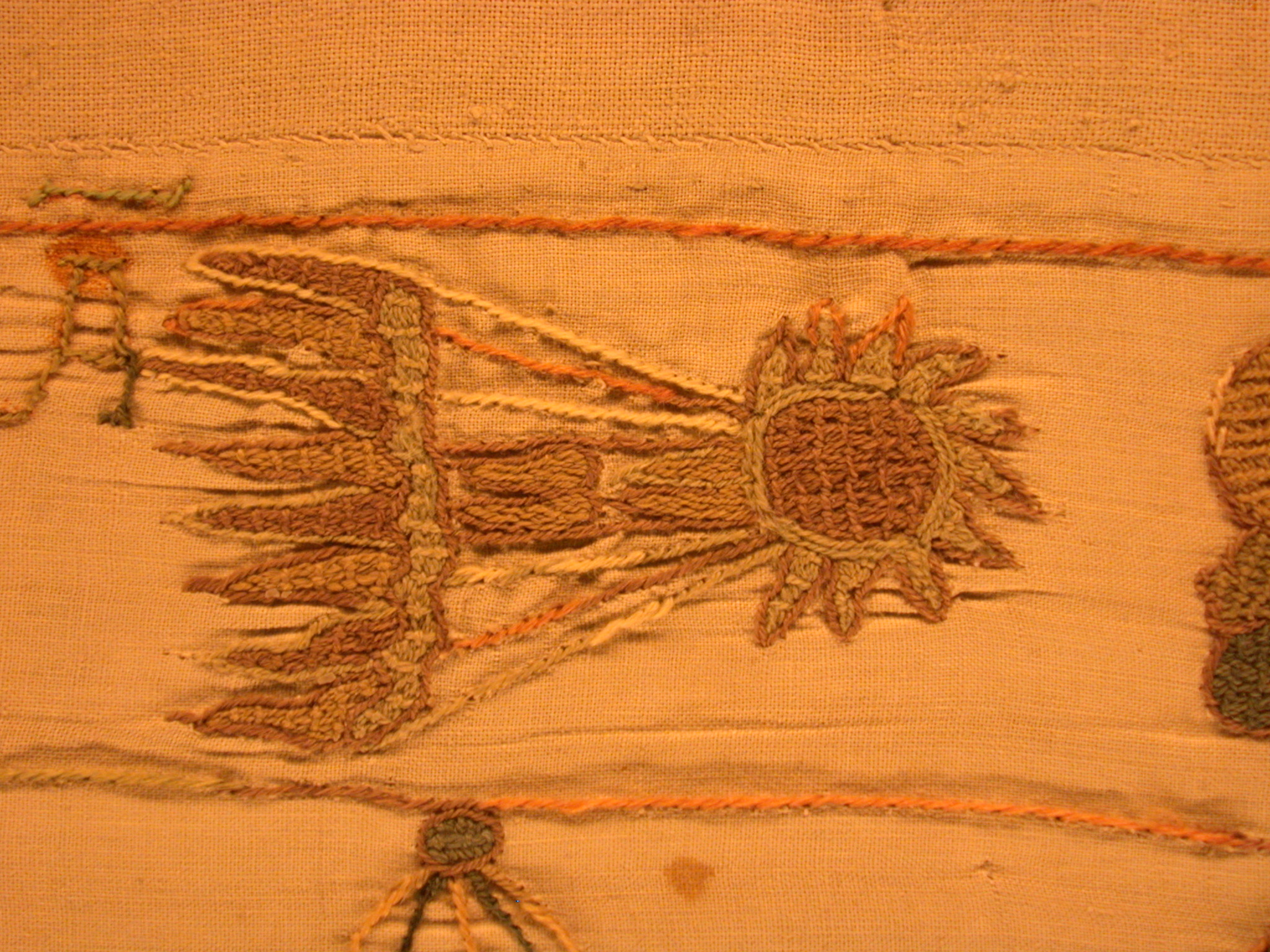 comet tatting yellow orange cloth portent tapestry