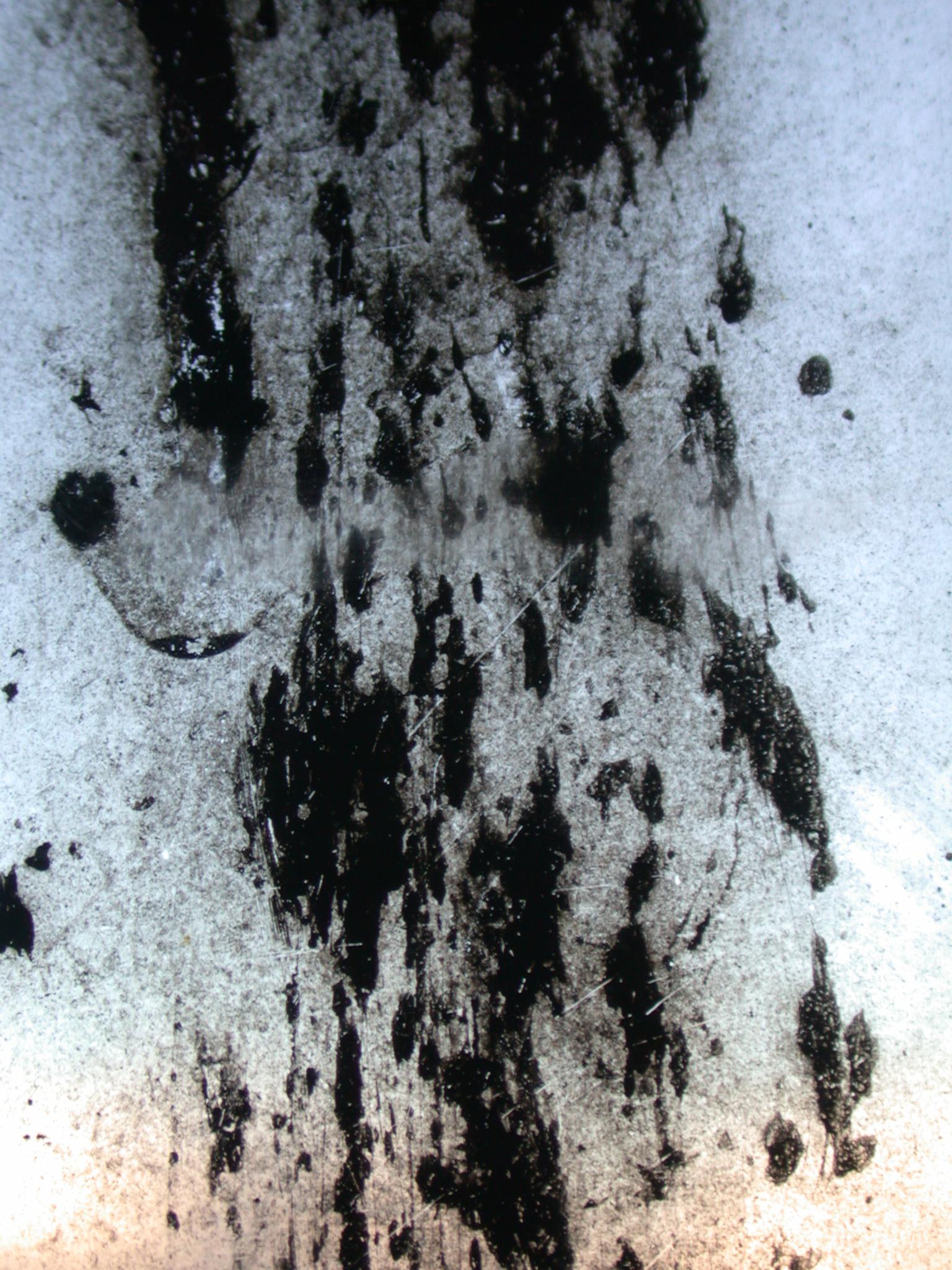 goo on plastic black dirt