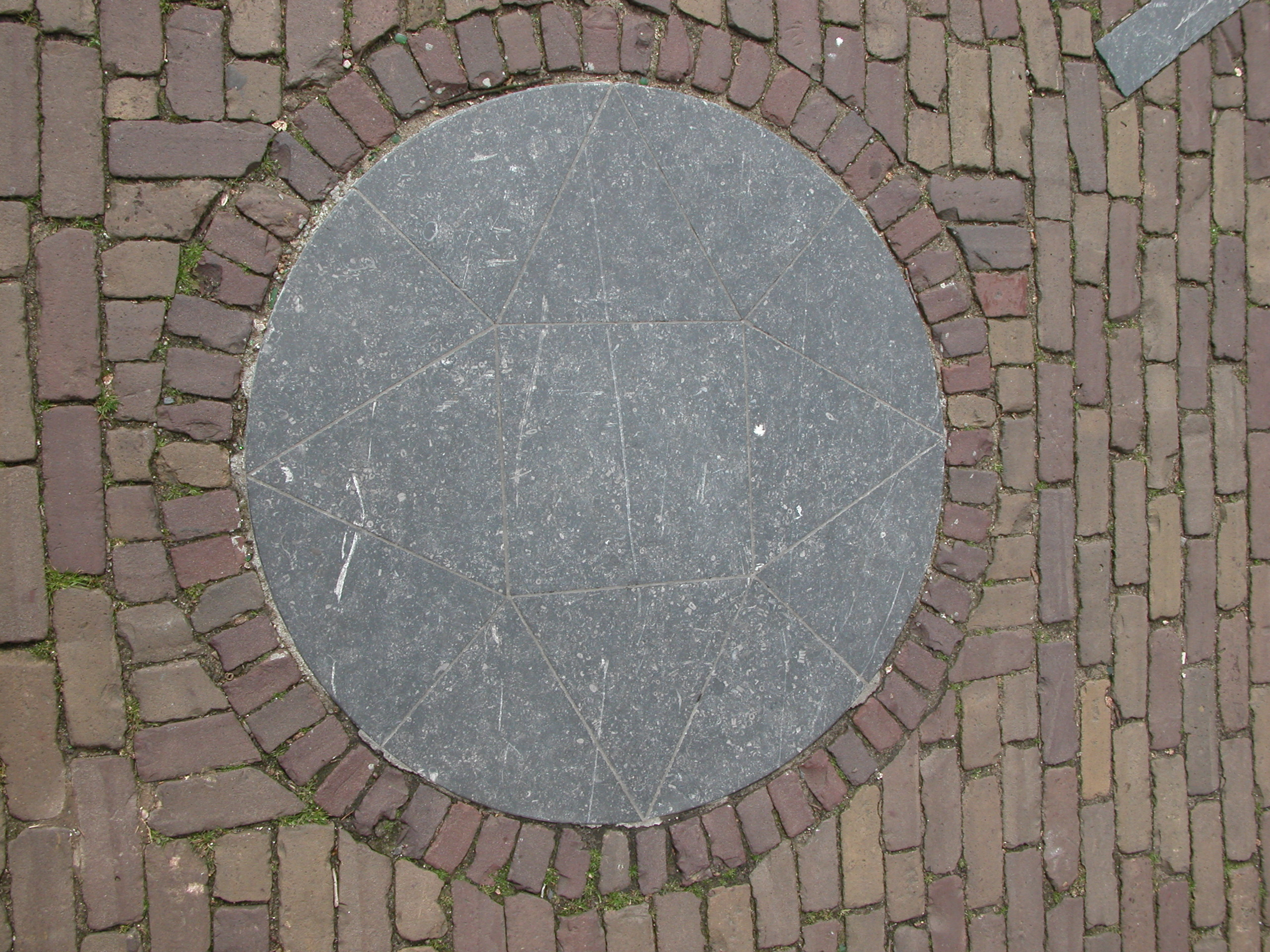 pagan dutch religious symbol or a compass stone