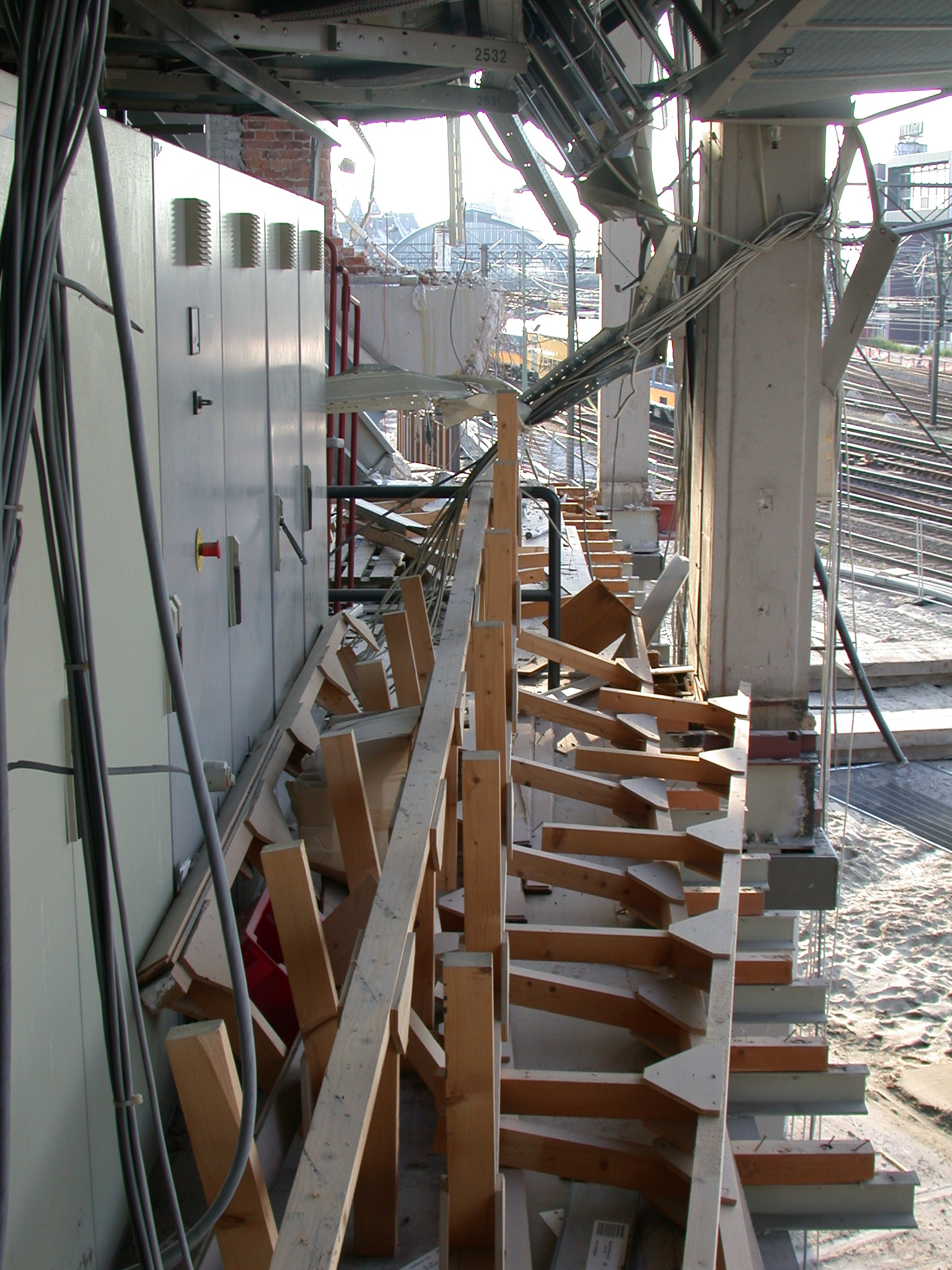building site lockers contructing planks house construction