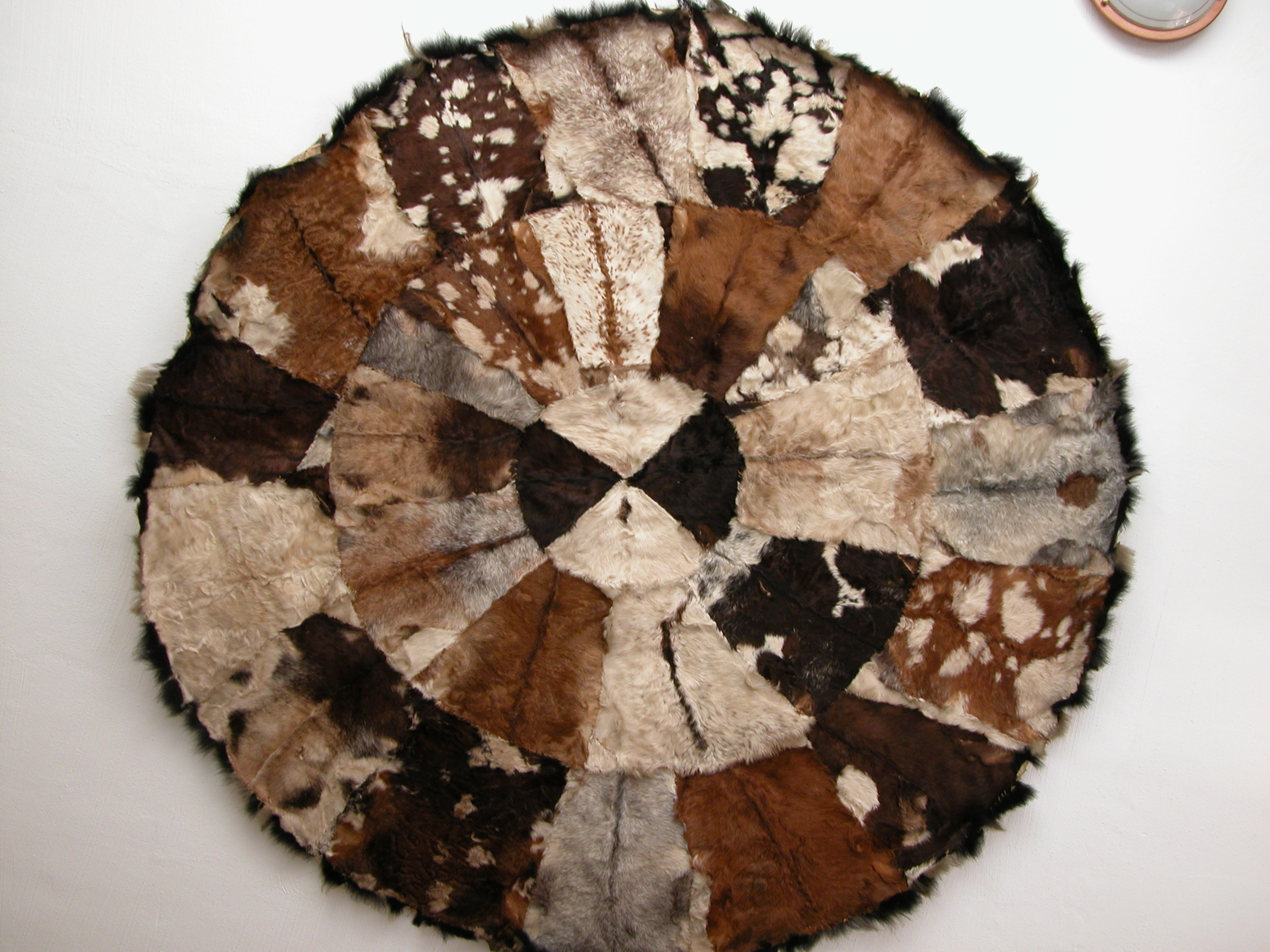 leather skin texture goathide cowhide eritrean eritrea fur hide circle tappice rug