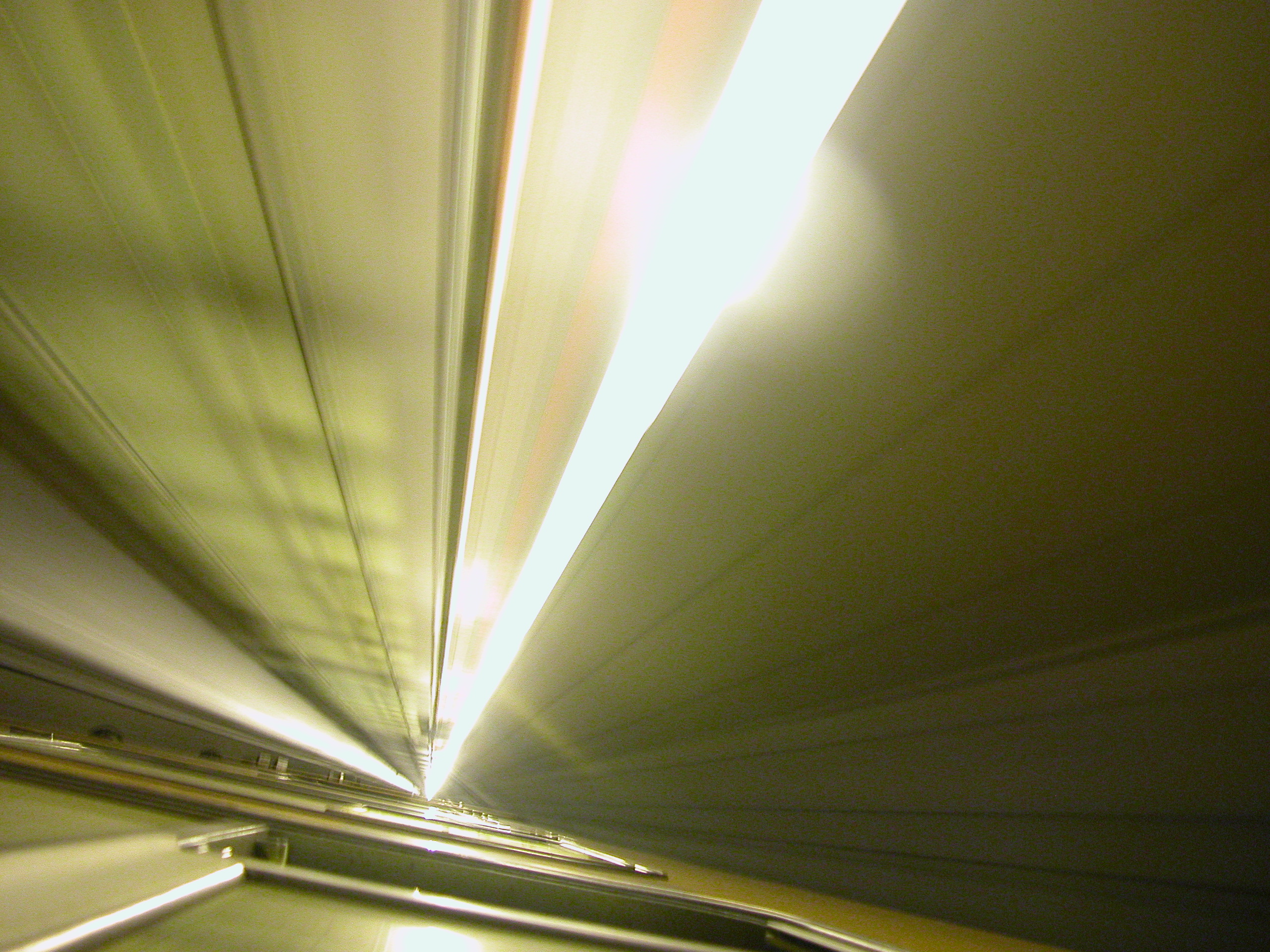 inside of a train light noise beams speed