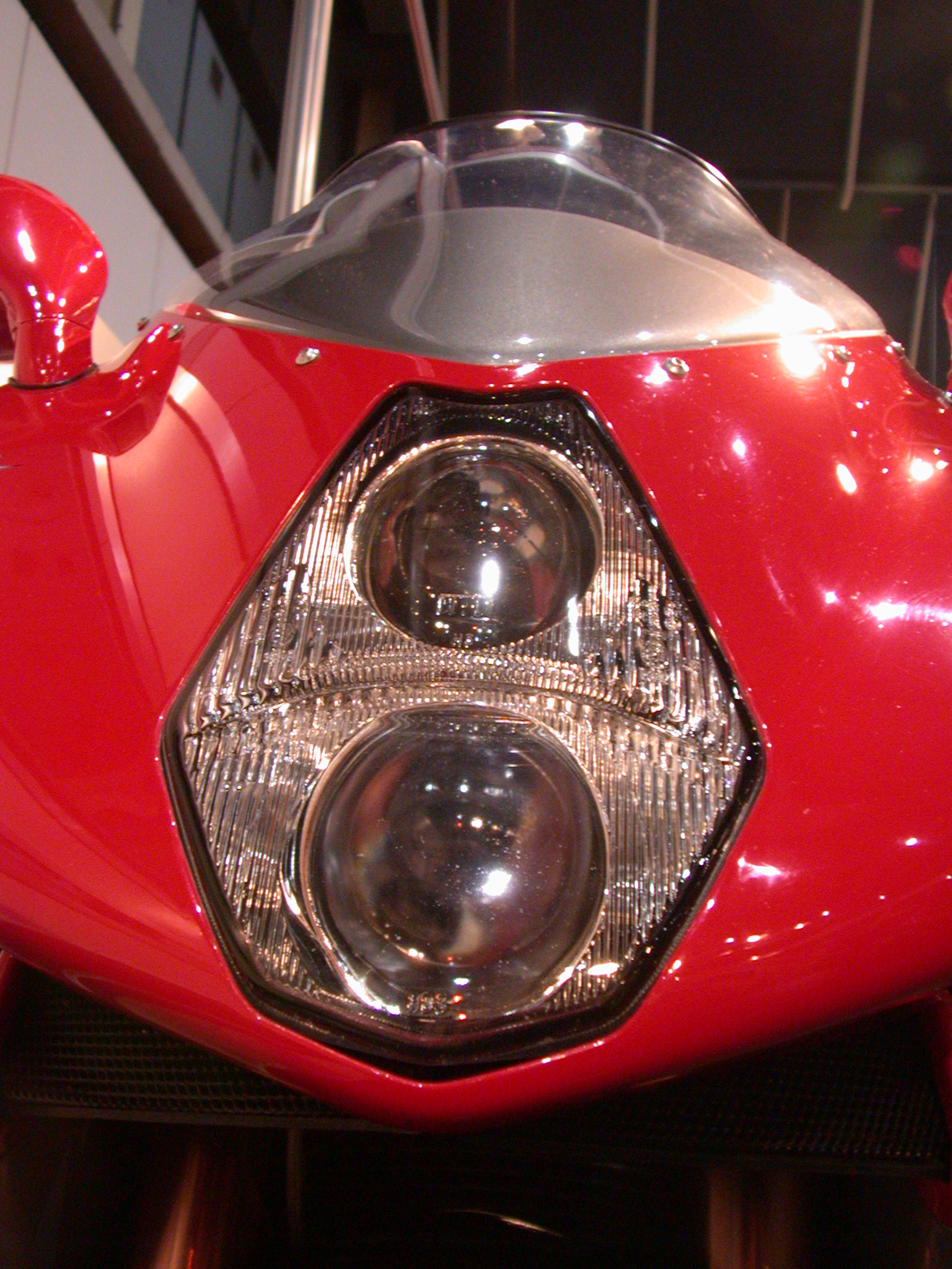 head light motor motorcycle red