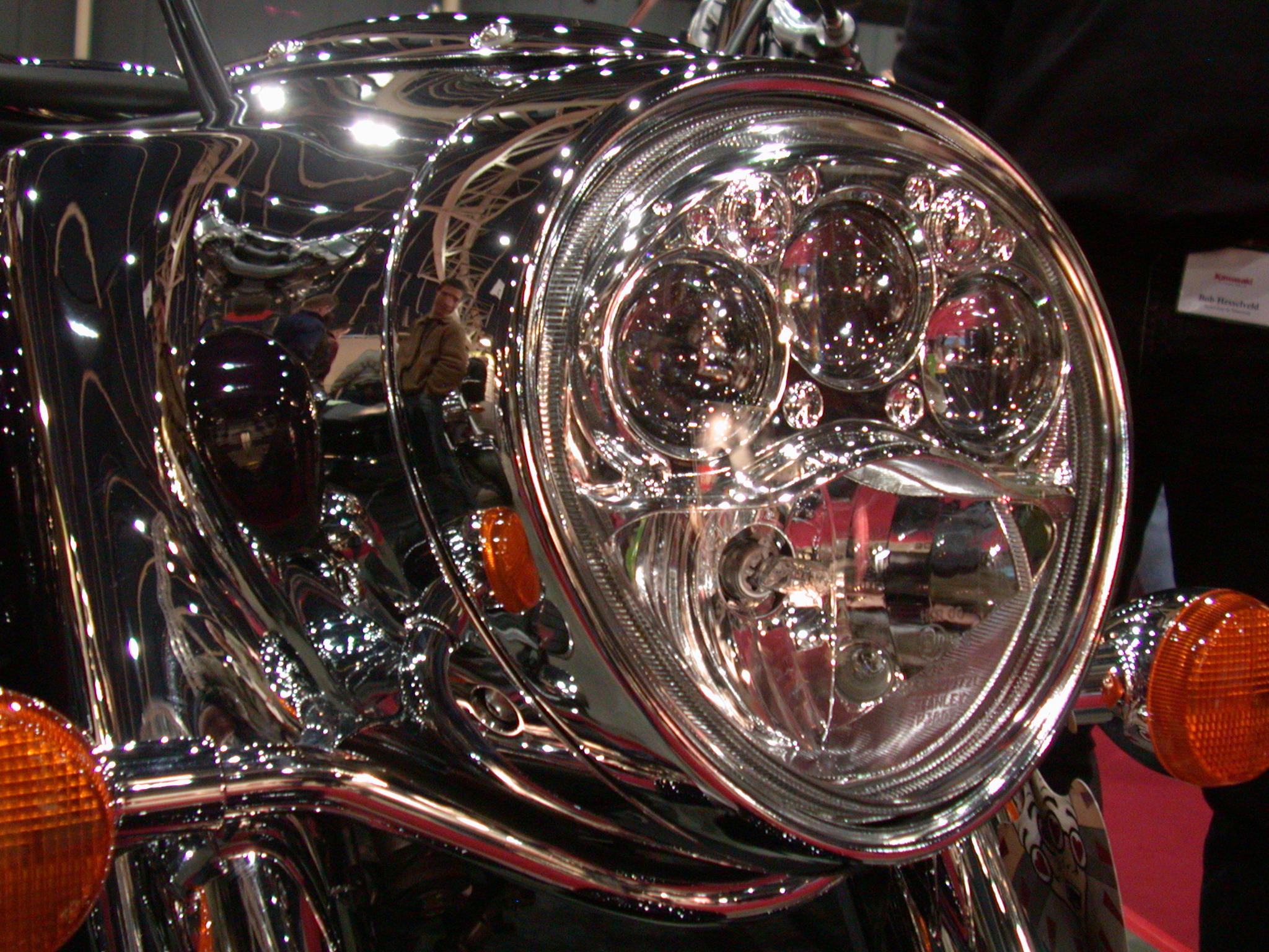 mechanics light headlight chrome glass