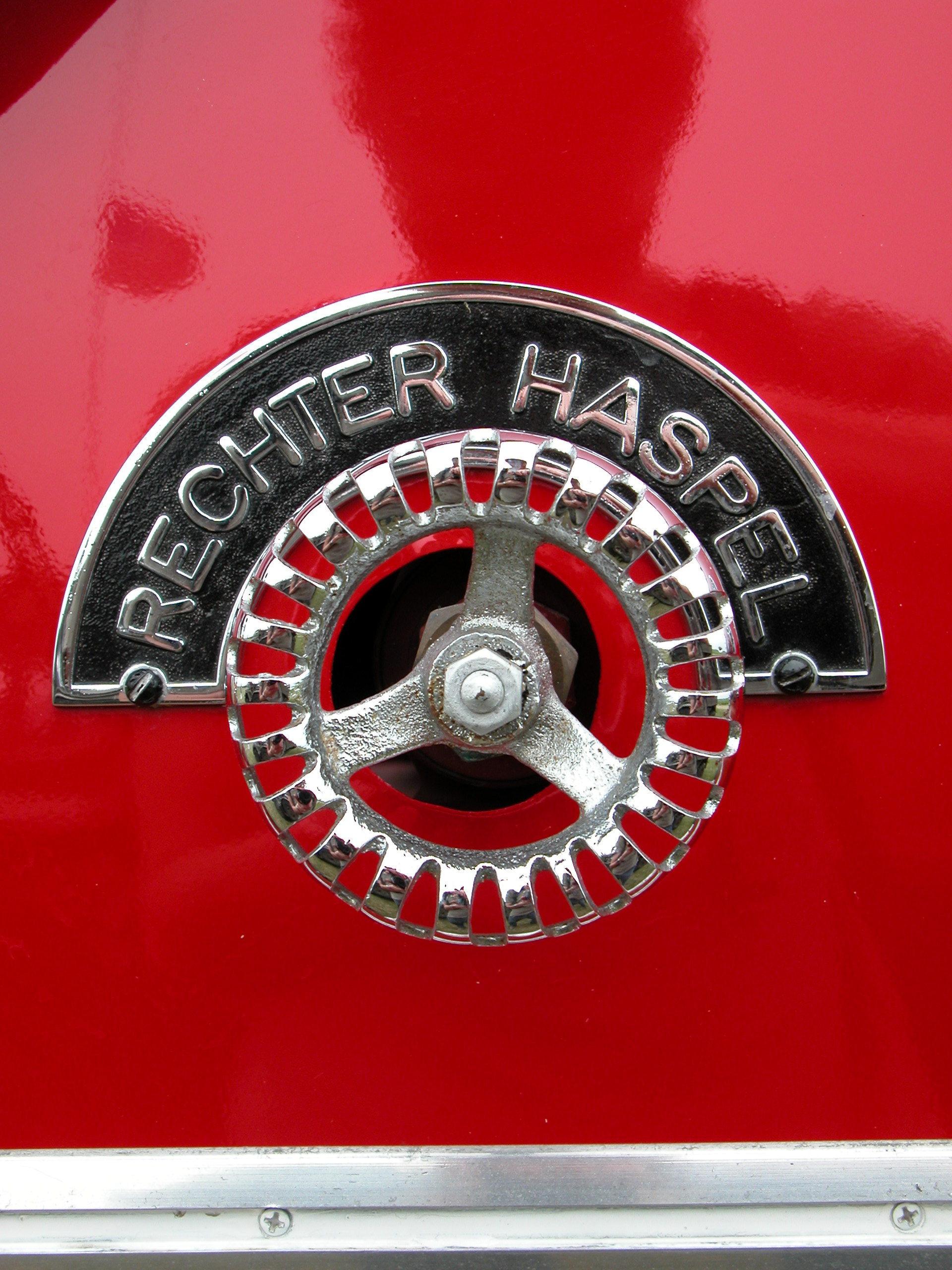 red chrome rechter haspel ornament metal royalty free