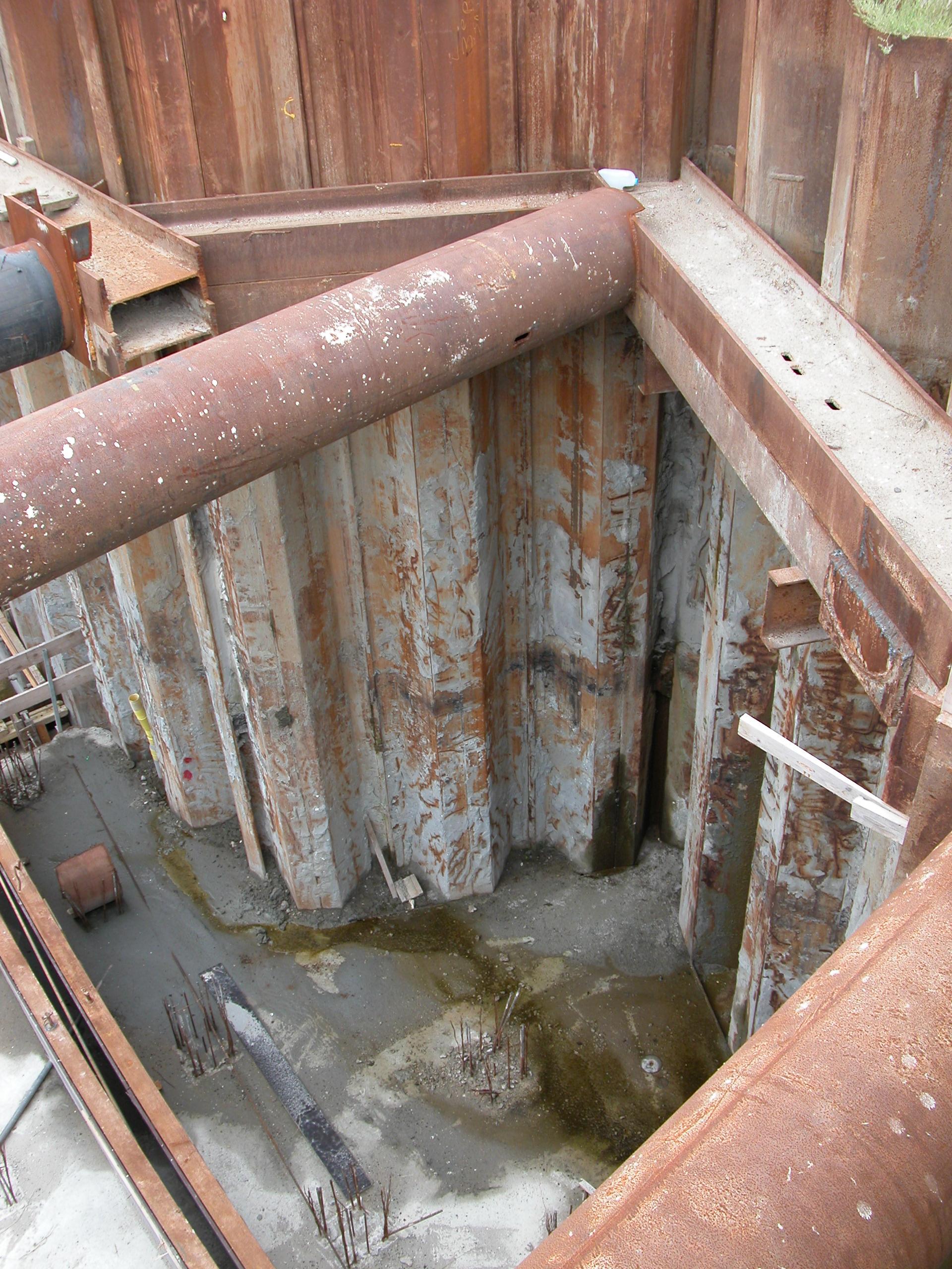 pit building construction site metal