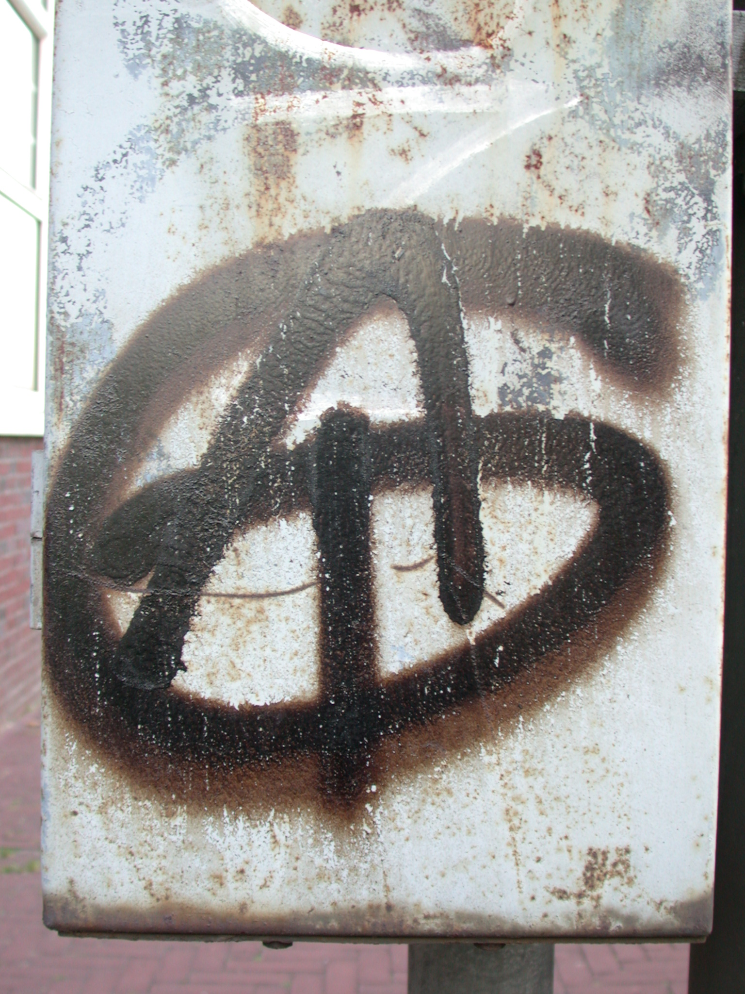spray paint A letter graffiti