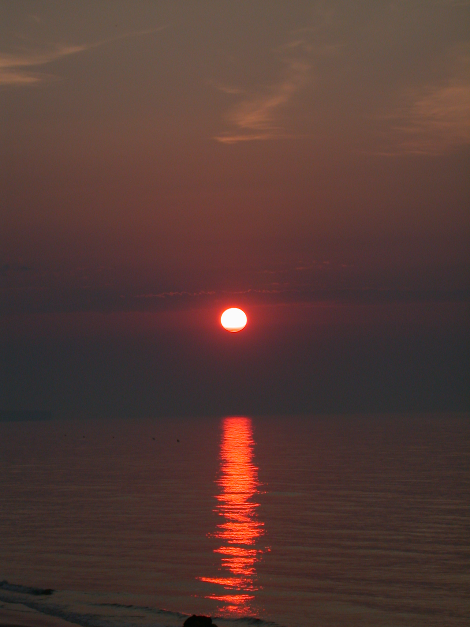 sol pôr do sol mar fogo vermelho paisagem