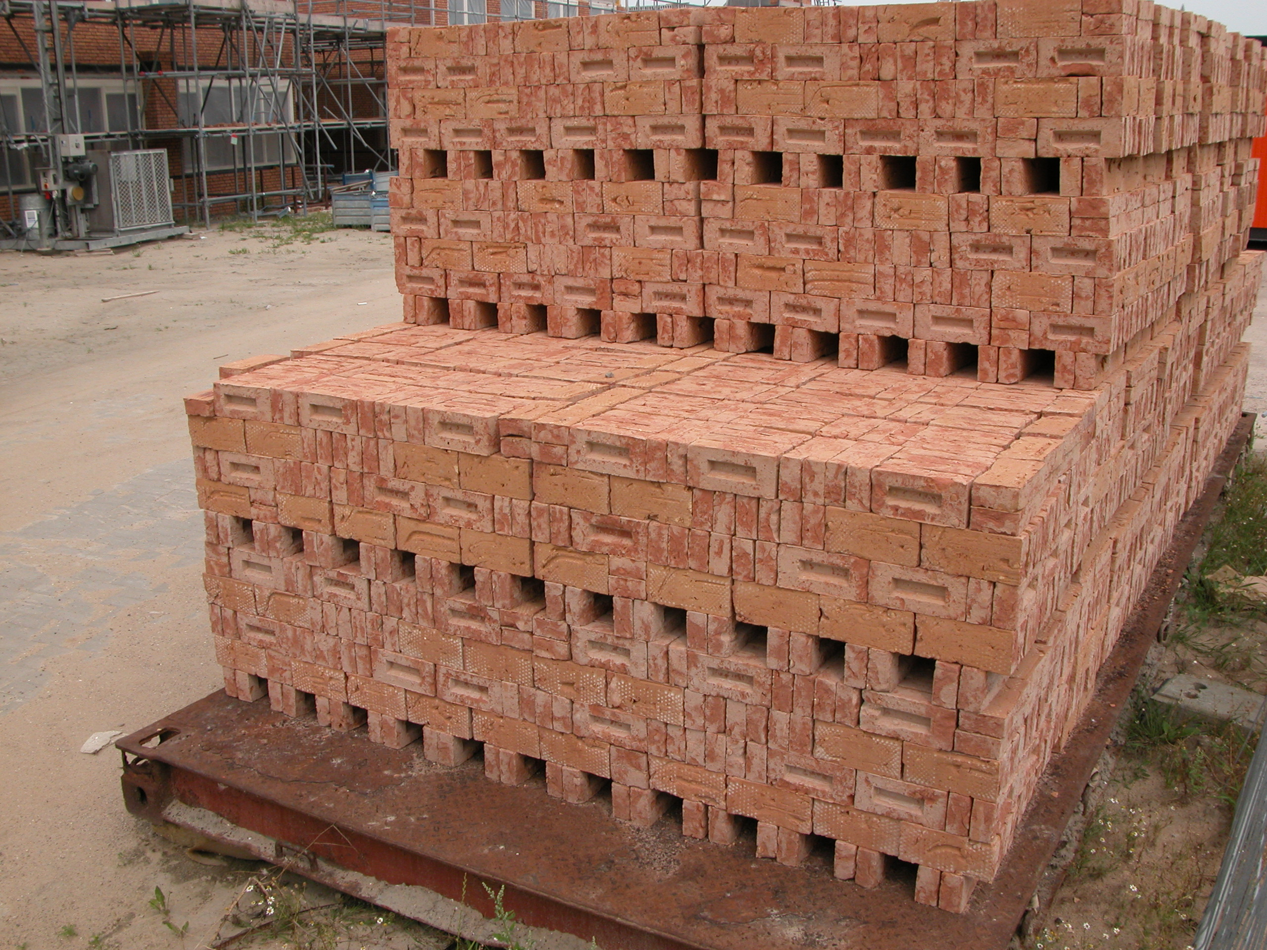 bricks brick construction site pile