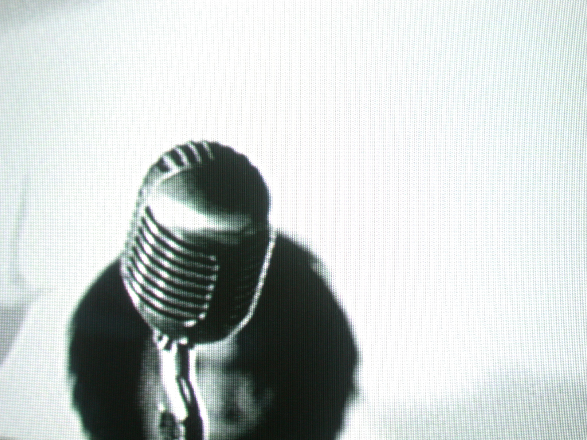 television shot of a microphone video clip