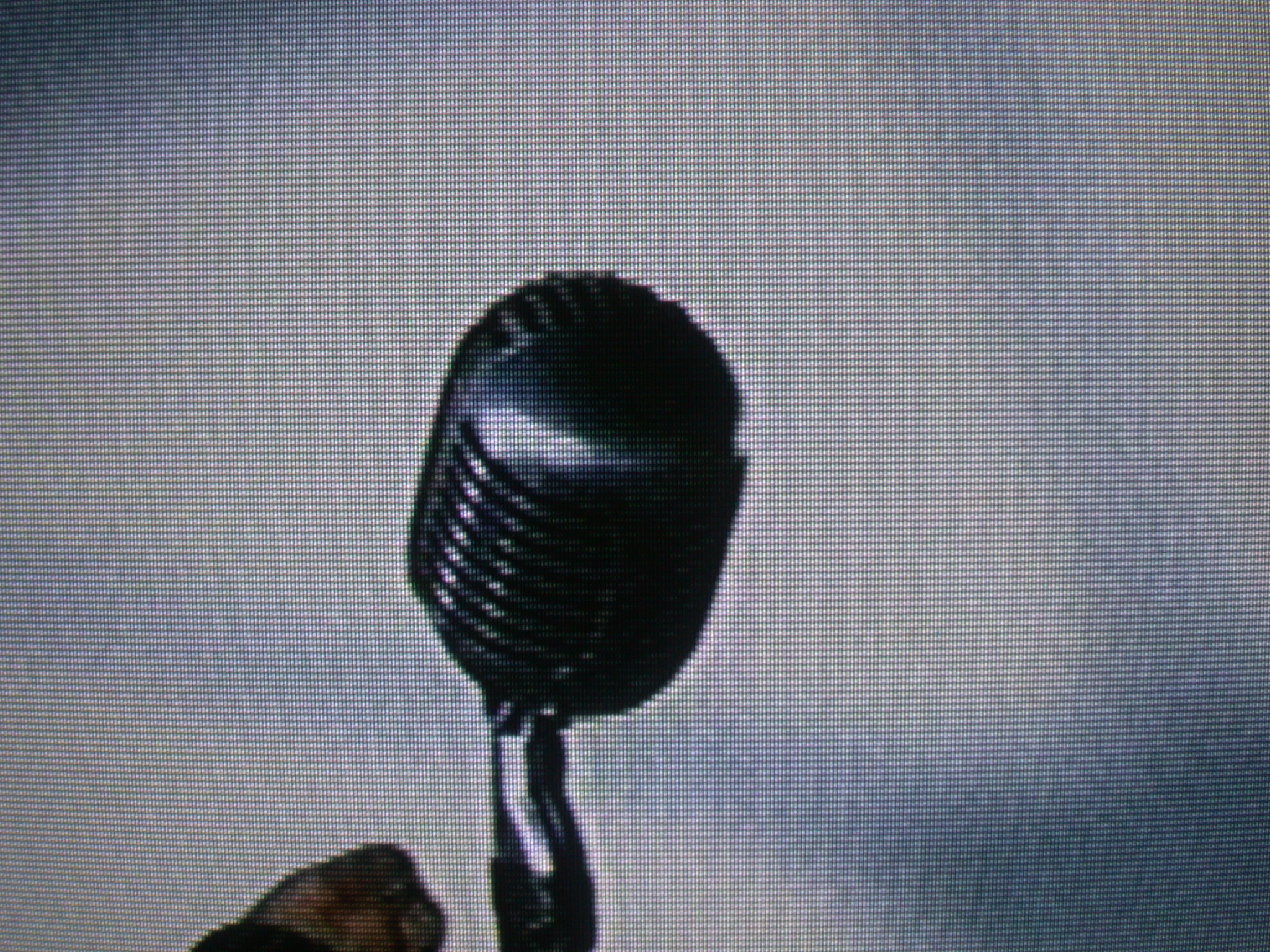 microphone on television tv